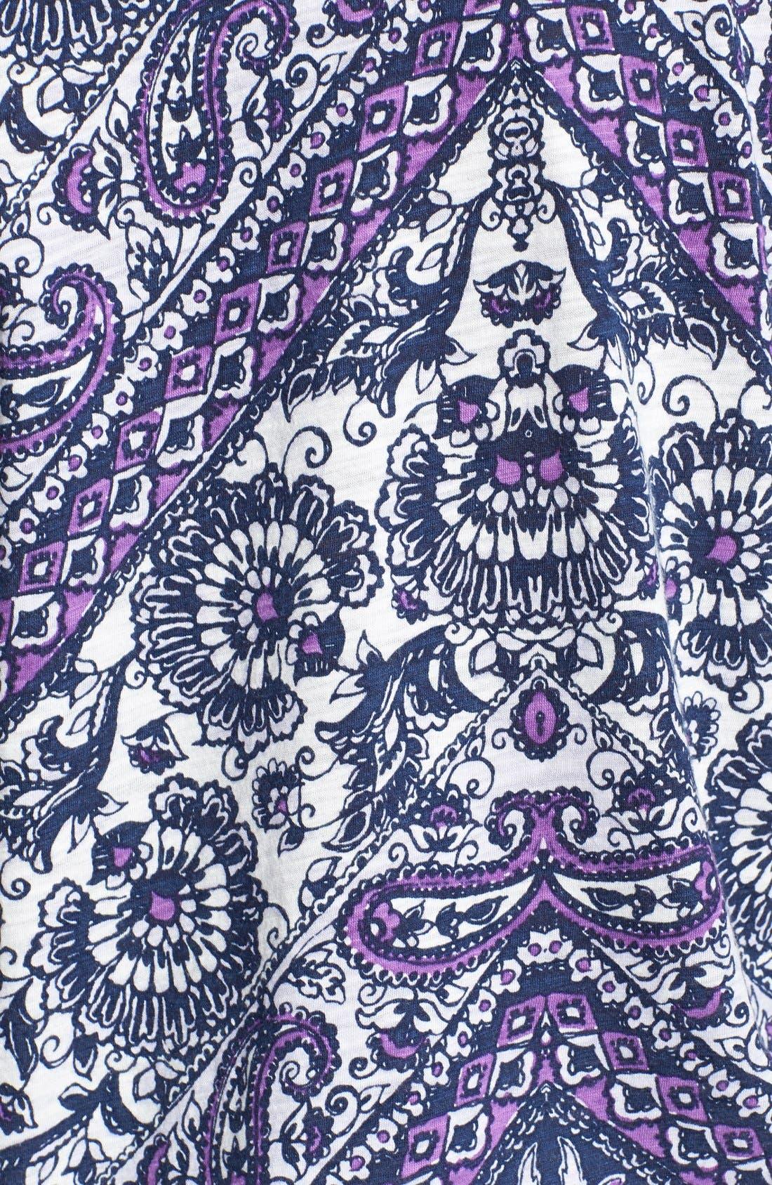 Alternate Image 3  - Lucky Brand Floral Bandana Print Jersey Tee