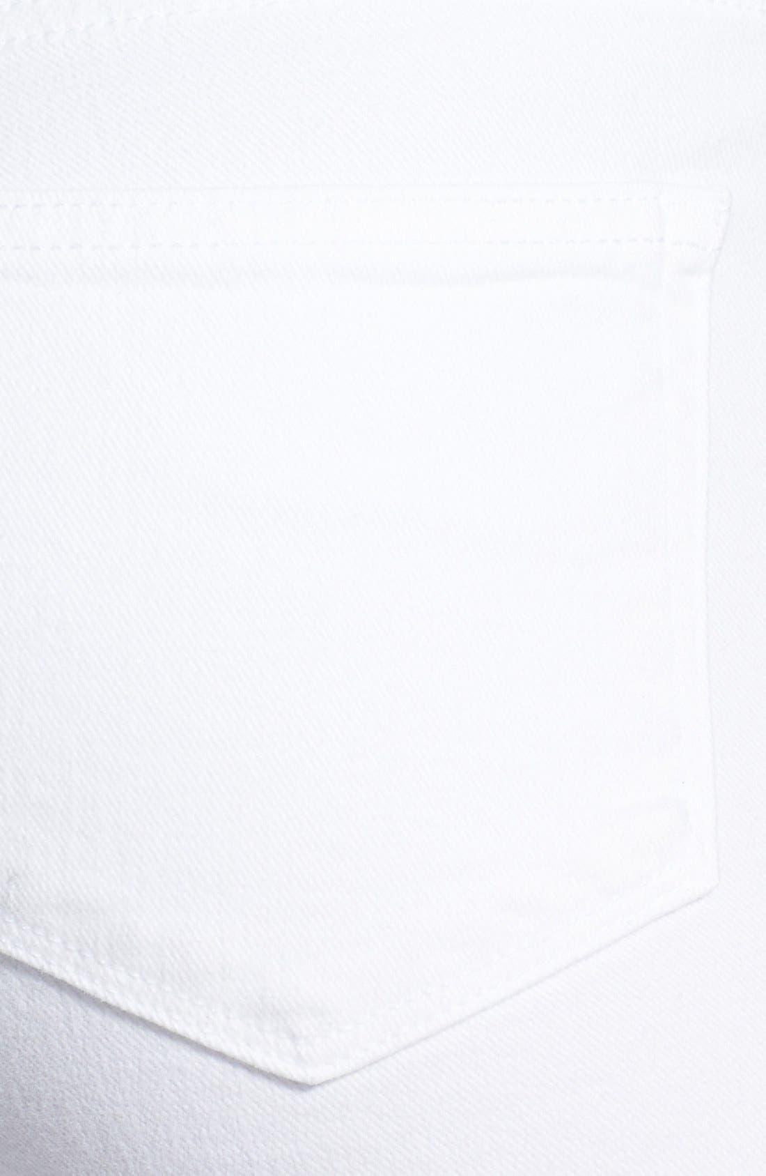 Alternate Image 3  - Paige Denim 'Jane' Zip Detail Ultra Skinny Jeans (Optic White)