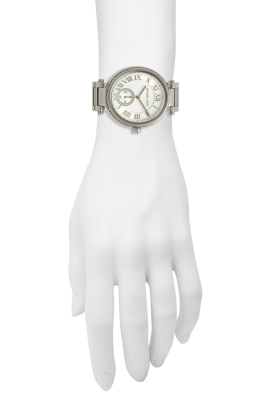 Alternate Image 4  - Michael Kors 'Skylar' Crystal Bezel Bracelet Watch, 42mm