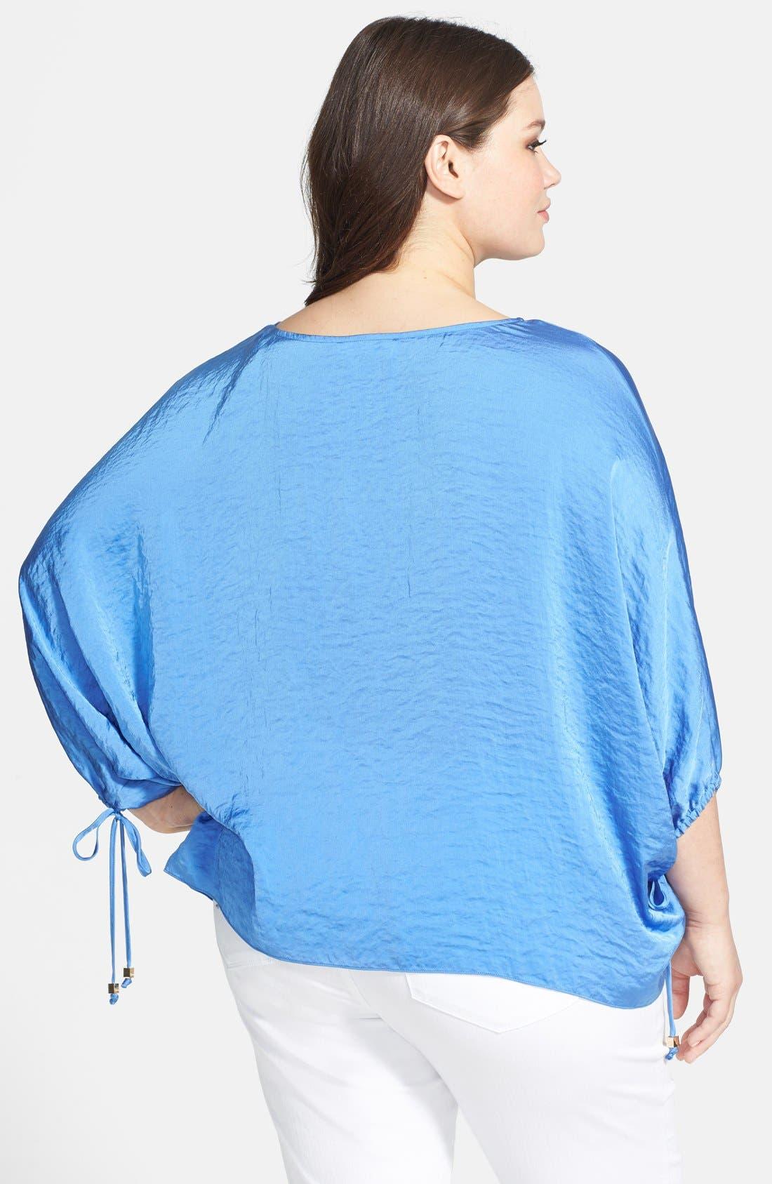 Alternate Image 2  - MICHAEL Michael Kors Crushed Woven Kimono Top (Plus Size)