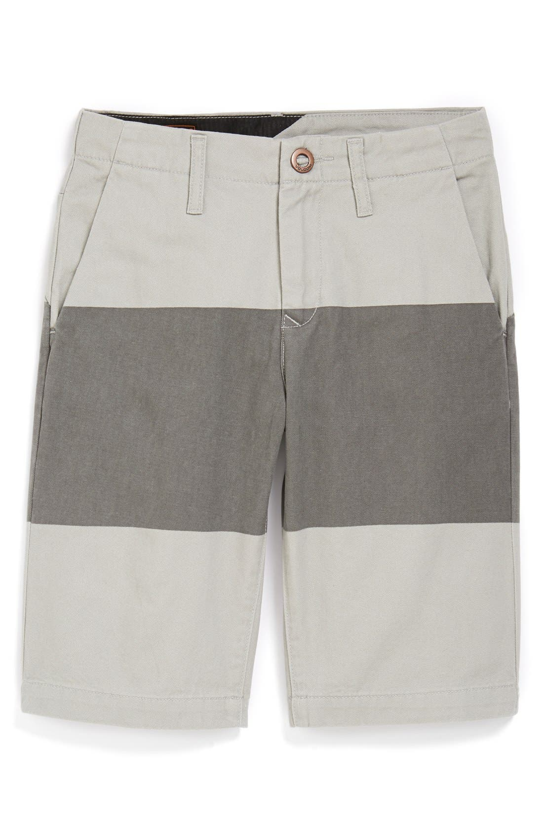 Alternate Image 1 Selected - Volcom Stripe Chino Shorts (Big Boys)