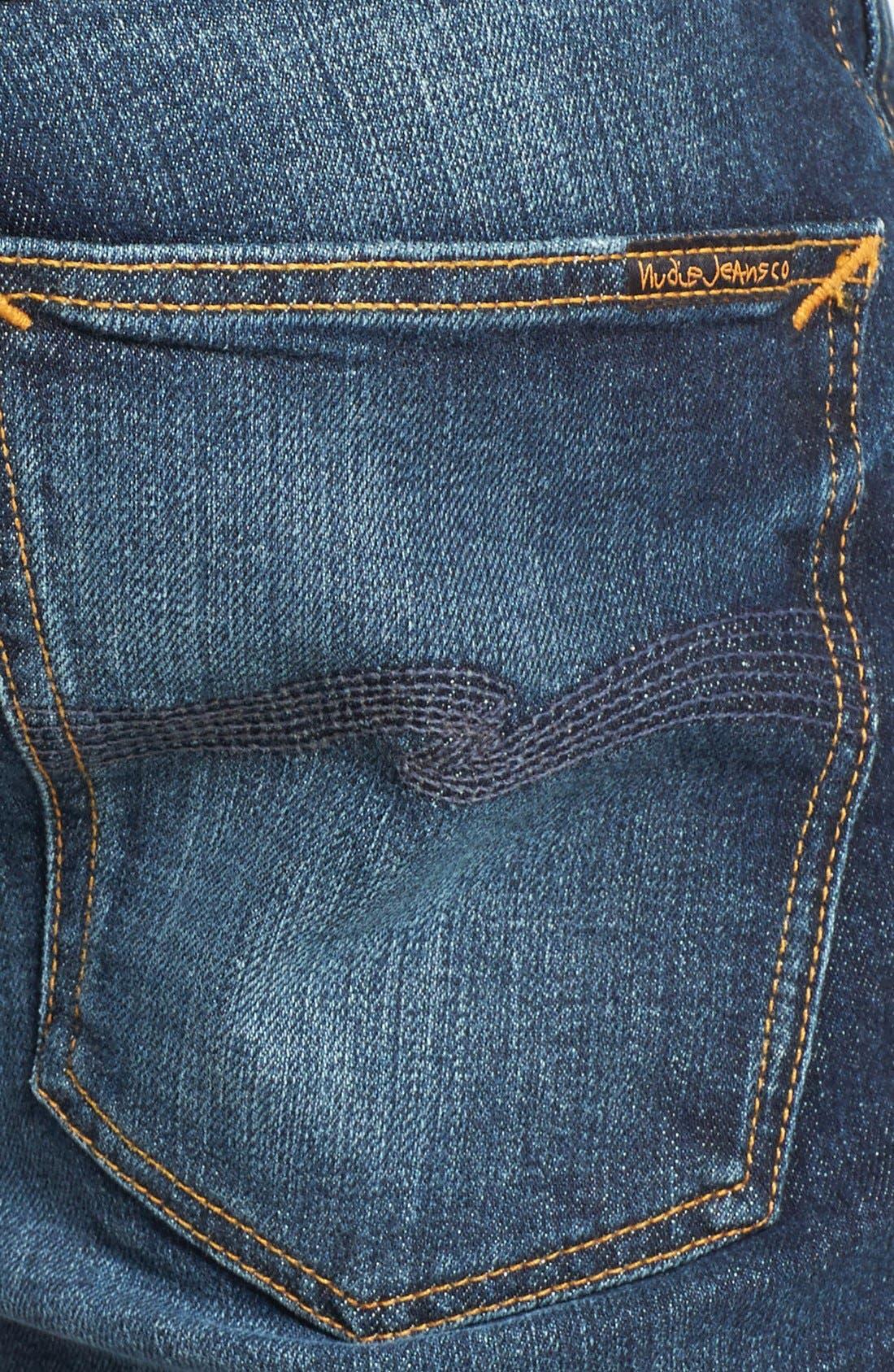 Alternate Image 4  - Nudie Jeans 'Grim Tim' Skinny Fit Jeans (Organic Clean Dark Blue)