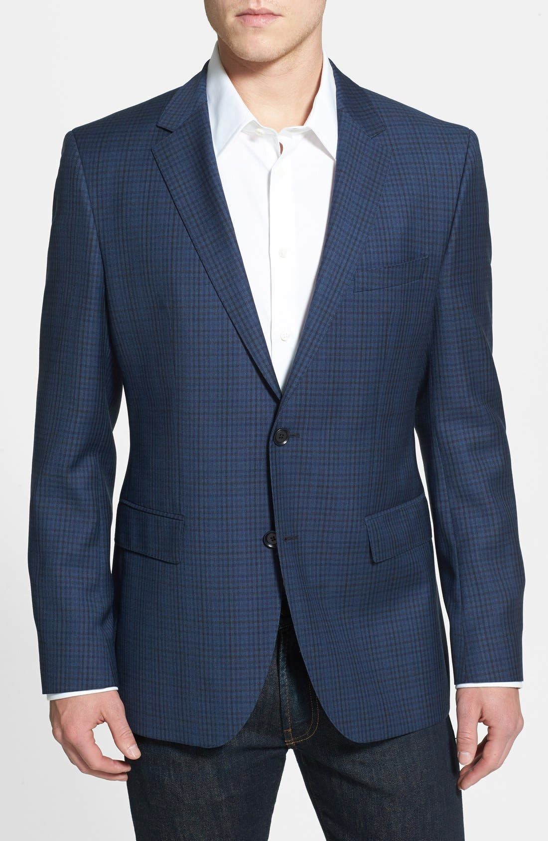 Alternate Image 1 Selected - BOSS HUGO BOSS Classic Fit Plaid Sport Coat