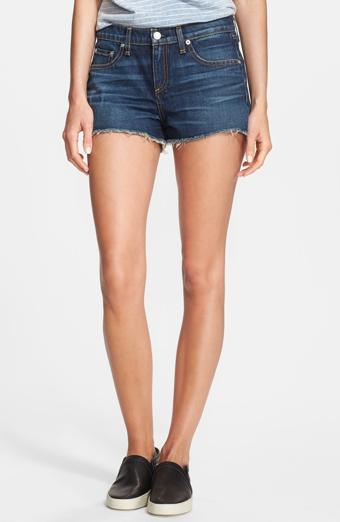 Alternate Image 1 Selected - rag & bone/JEAN 'The Mila' Denim Cutoff Shorts (Doheny)