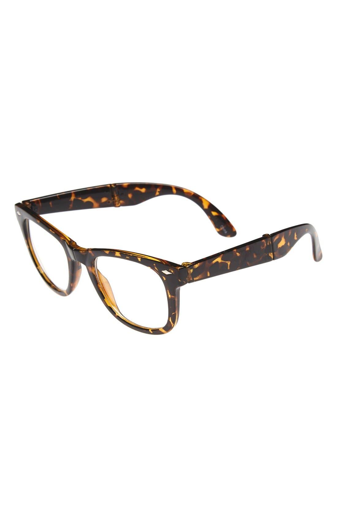 Alternate Image 1 Selected - Icon Eyewear 'Ethan - Tortoise Tortoise' Foldable Glasses