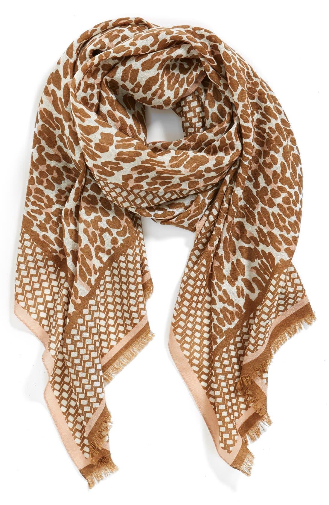 Alternate Image 3  - Tory Burch 'Reva - Leopard' Wool Gauze Scarf