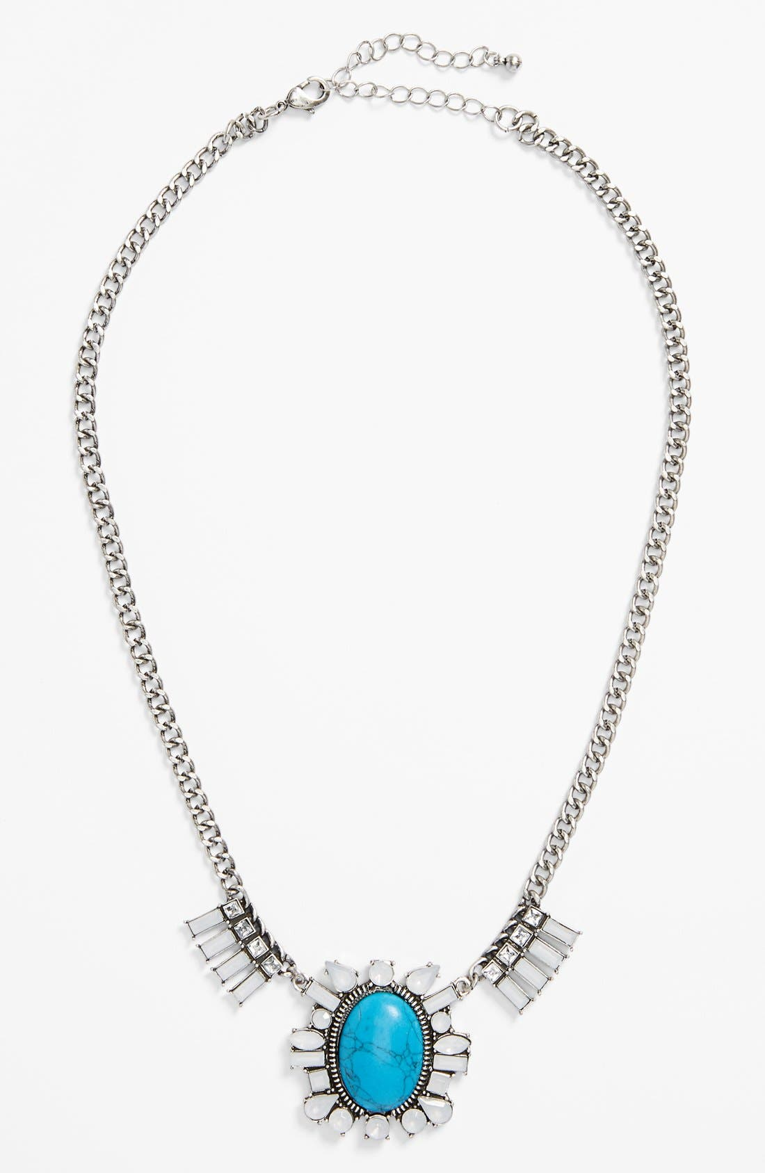 Main Image - BP. Stone Statement Necklace (Juniors)