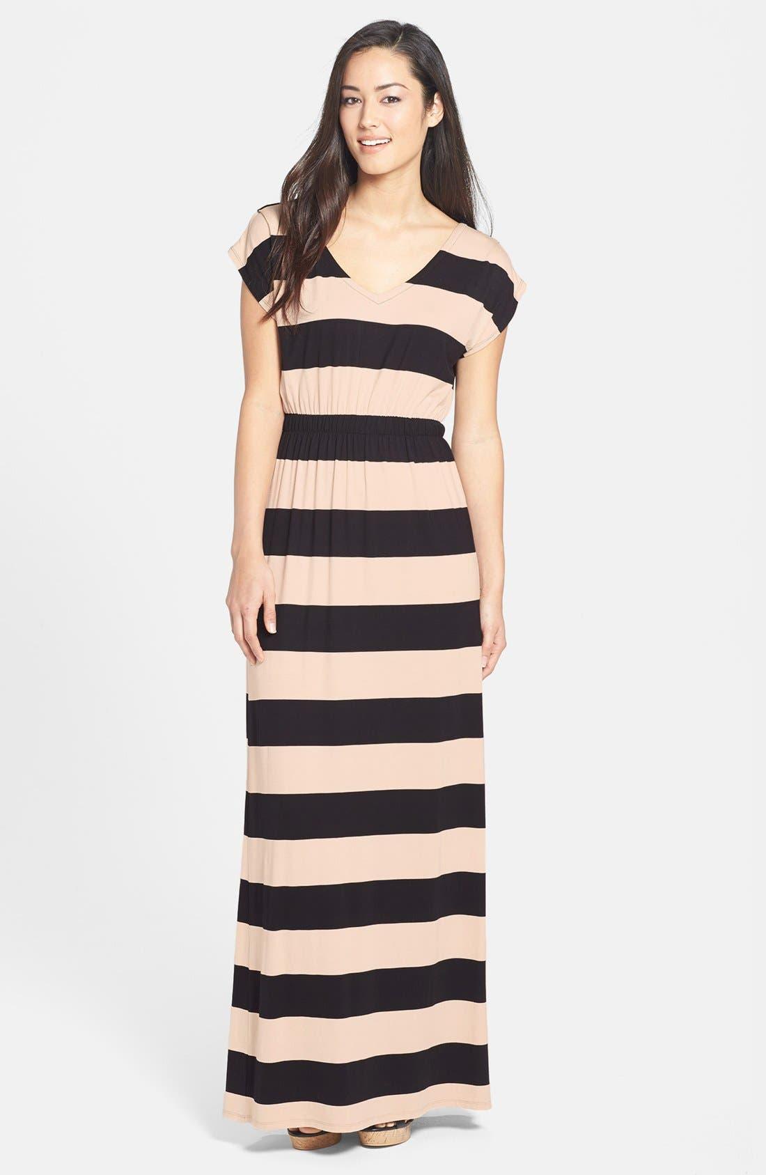 Main Image - Felicity & Coco Blouson Stripe Maxi Dress (Nordstrom Exclusive)