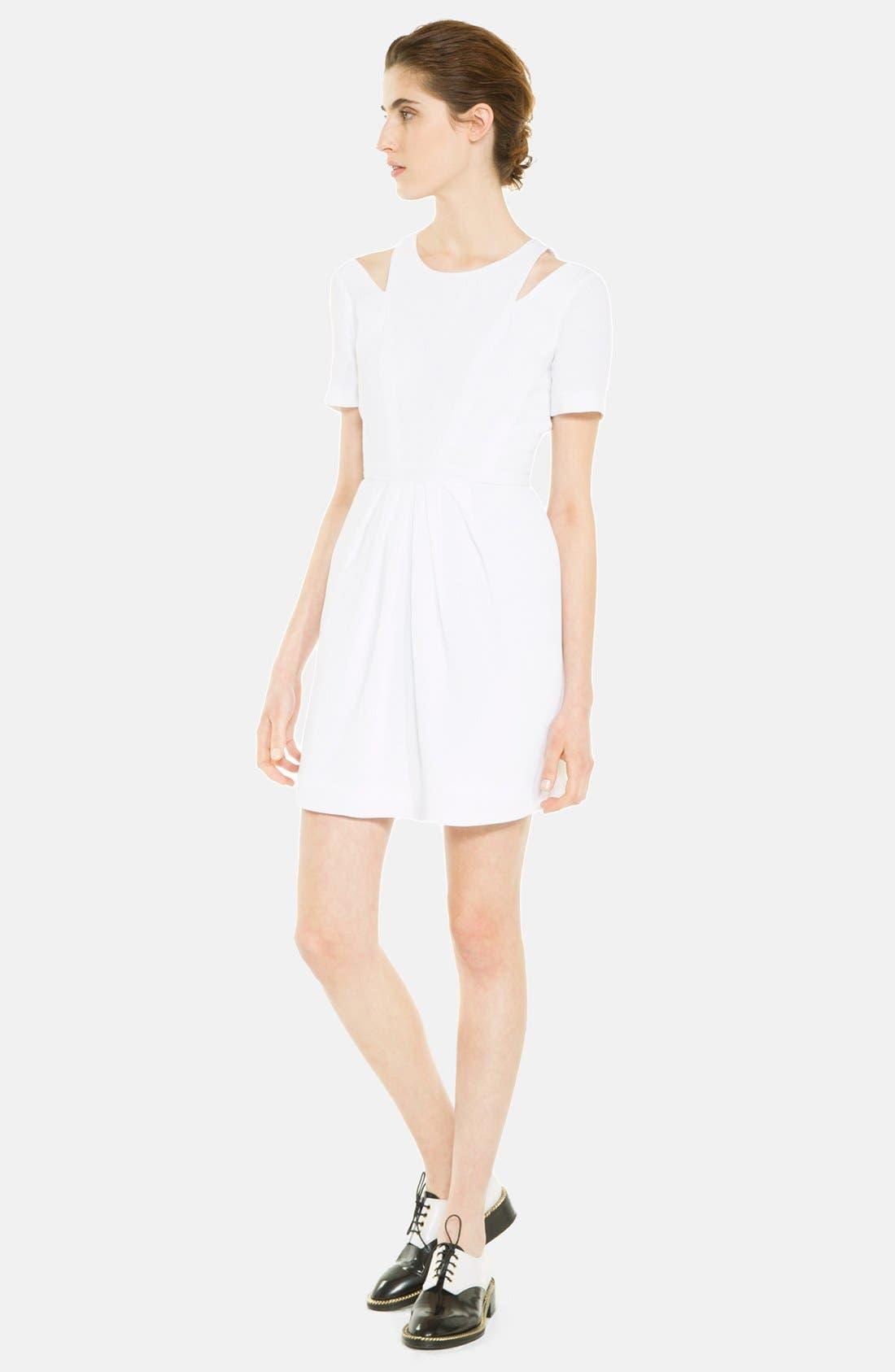 Main Image - sandro 'Recompense' Cotton Fit & Flare Dress