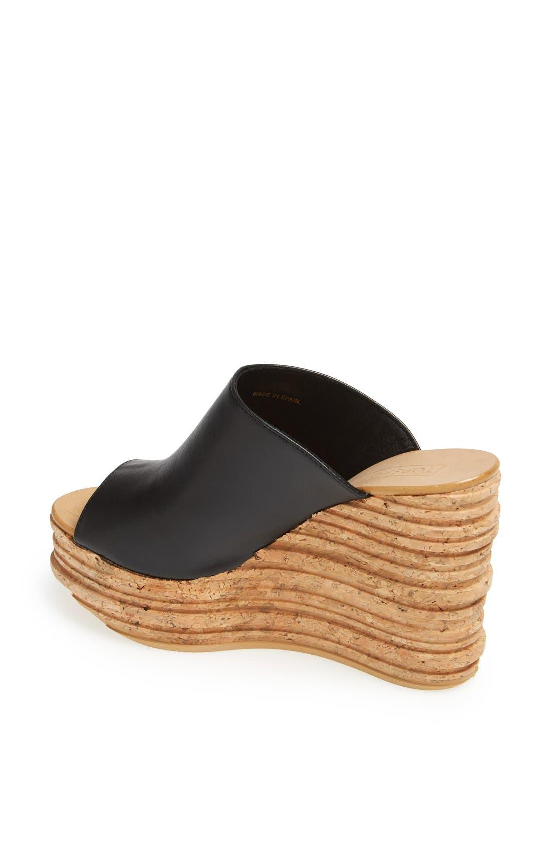 Alternate Image 2  - Topshop 'Walnut' Wedge Mule Sandal