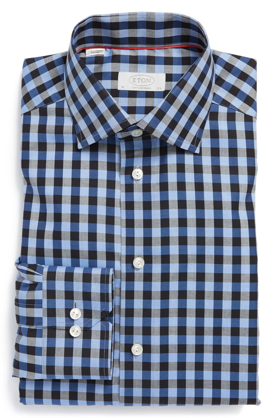 Main Image - Eton Contemporary Check Dress Shirt