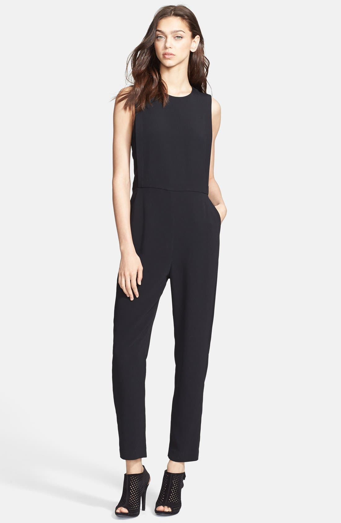 Alternate Image 1 Selected - Theory 'Remaline' Stretch Crepe Jumpsuit