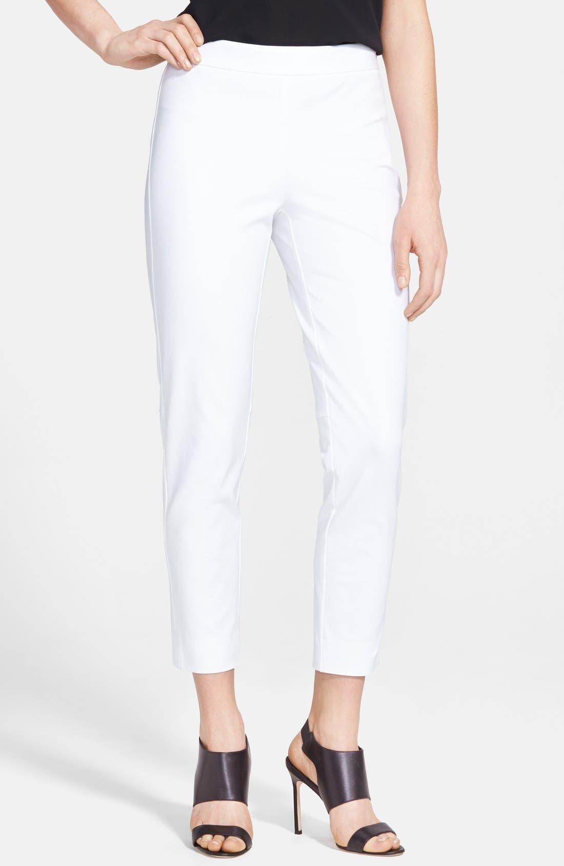 Alternate Image 1 Selected - Chelsea28 Side Slit Ankle Pants