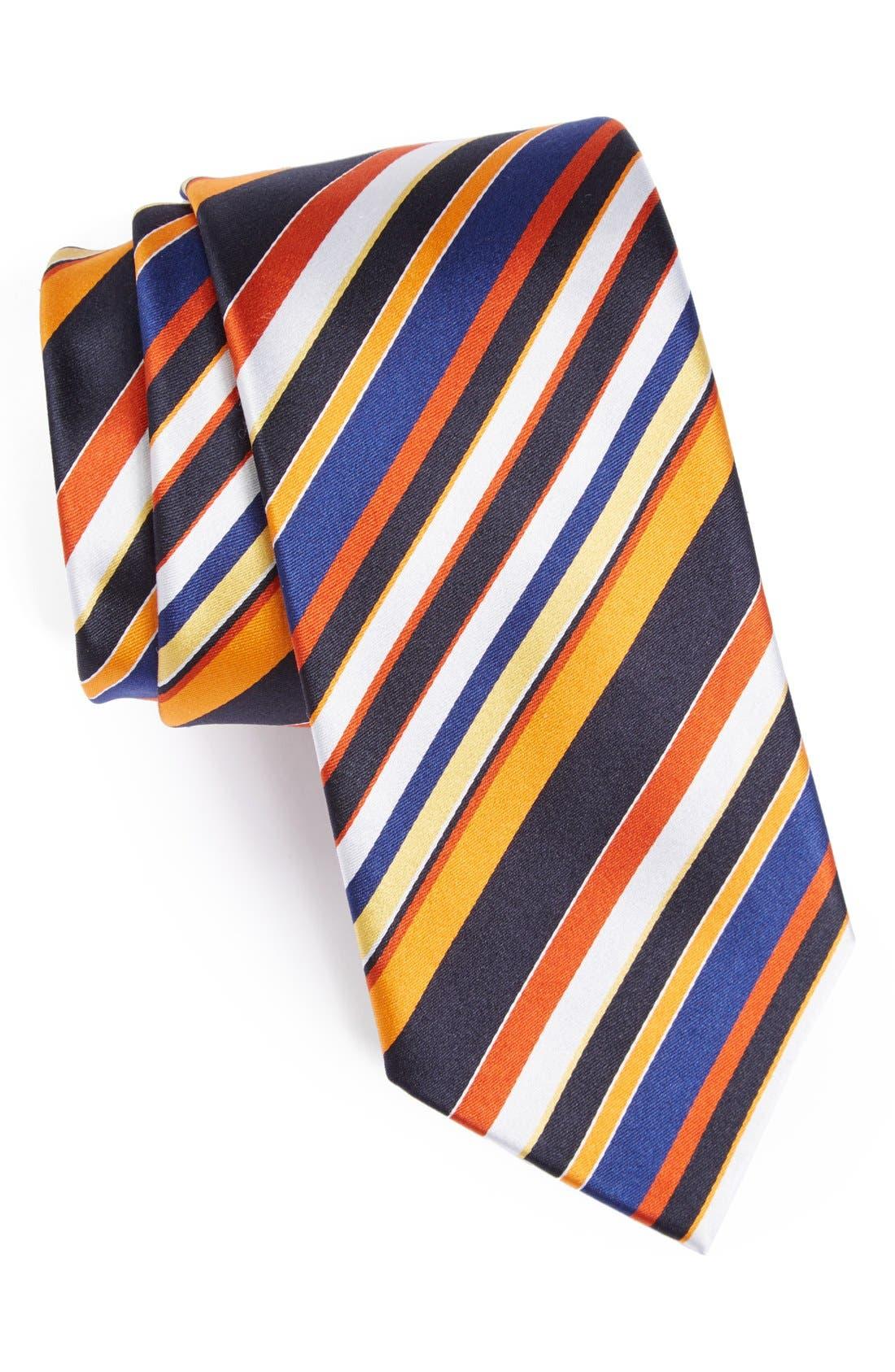 Main Image - Bugatchi Stripe Silk Tie