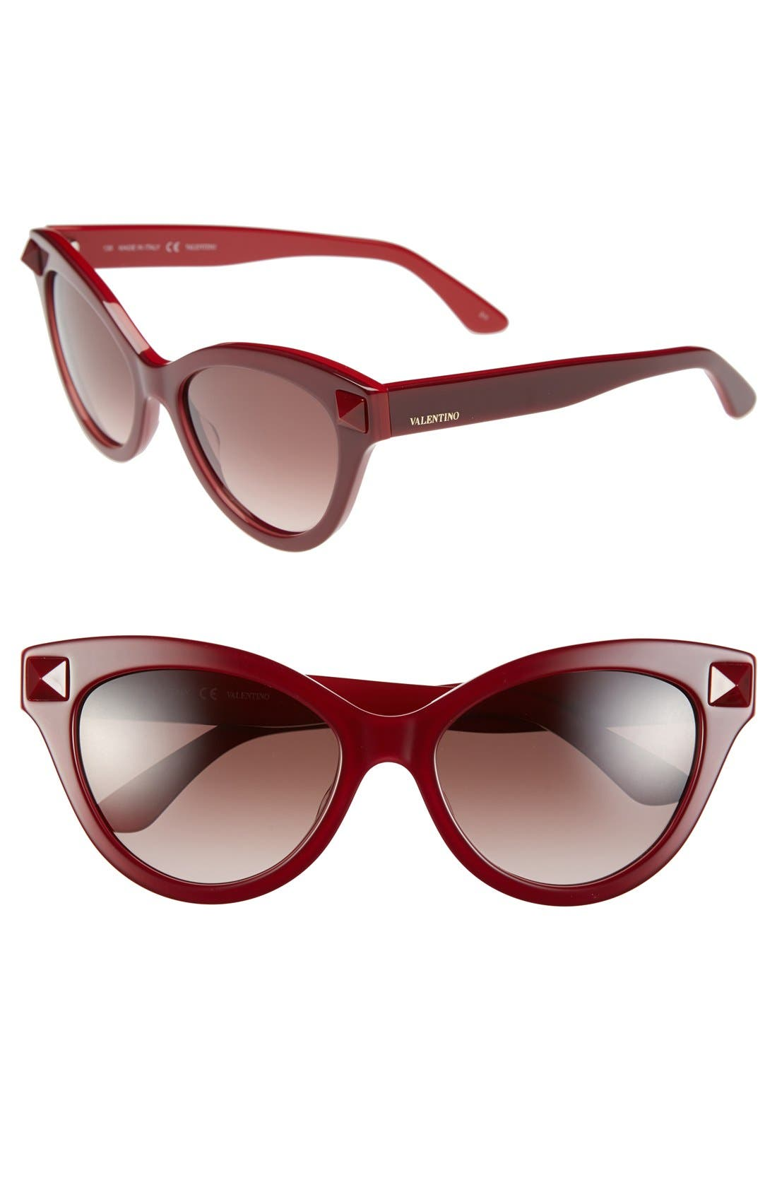 Main Image - Valentino 'Rockstud' 53mm Cat Eye Sunglasses