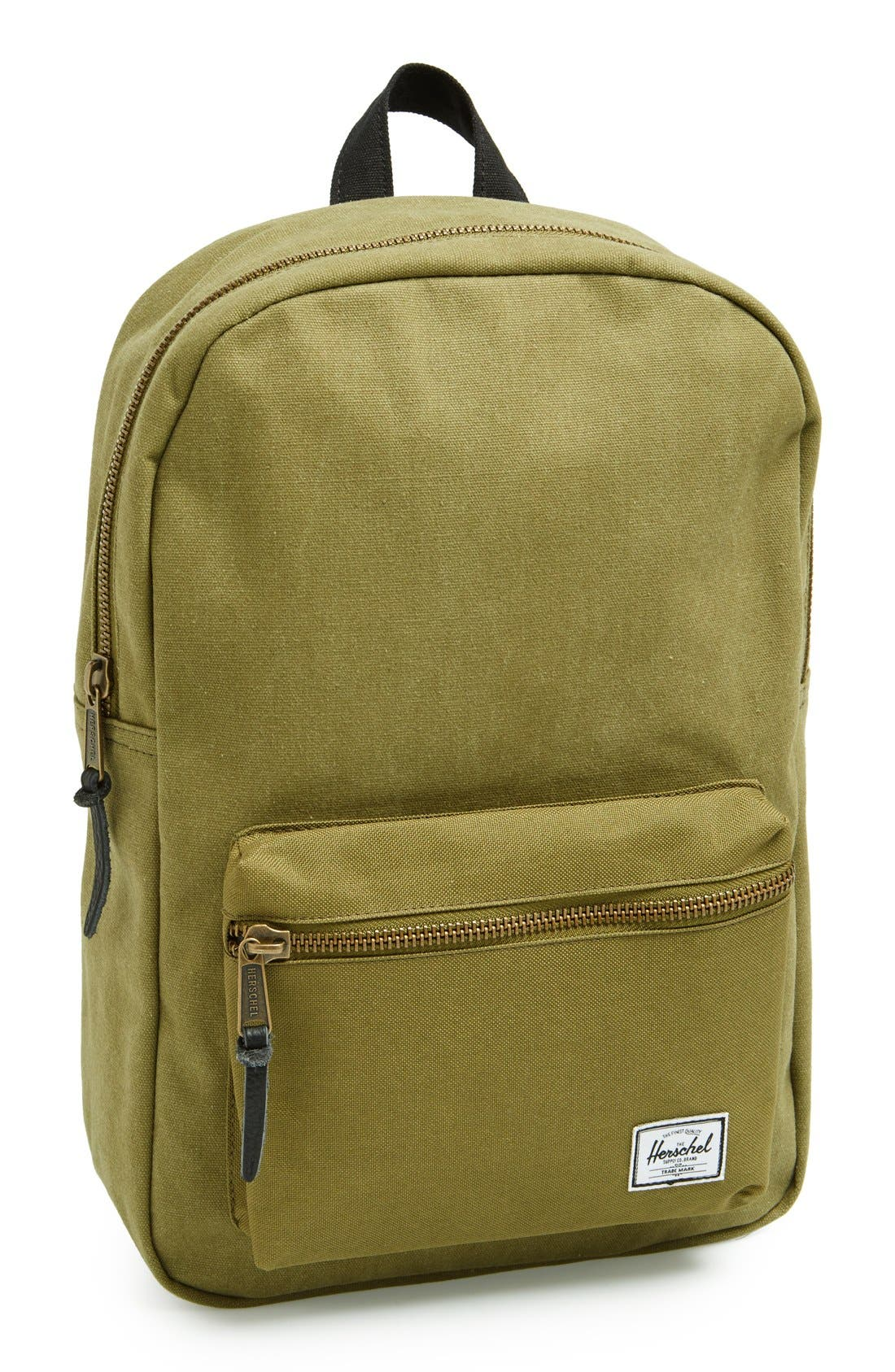 Alternate Image 1 Selected - Herschel Supply Co. 'Settlement Mid-Volume' Canvas Laptop Backpack (13 Inch)