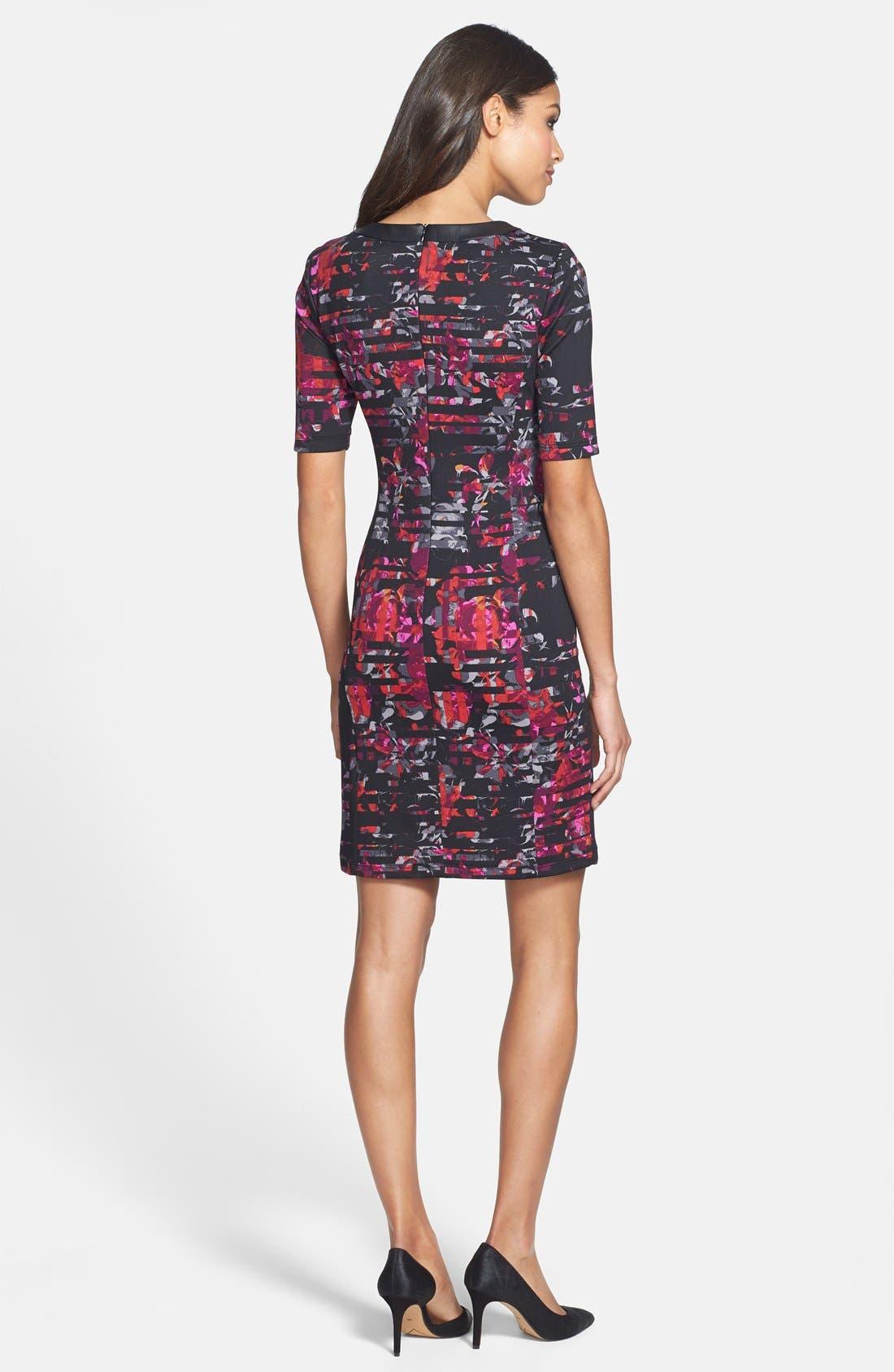 Alternate Image 2  - Taylor Dresses Floral Print Scuba Sheath Dress