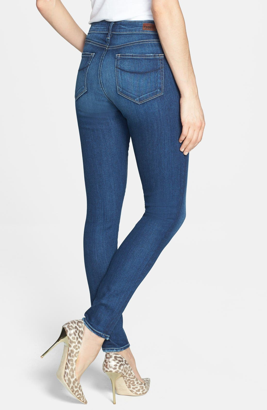 Alternate Image 2  - PAIGE 'Hoxton' High Rise Skinny Jeans (Woodrow)