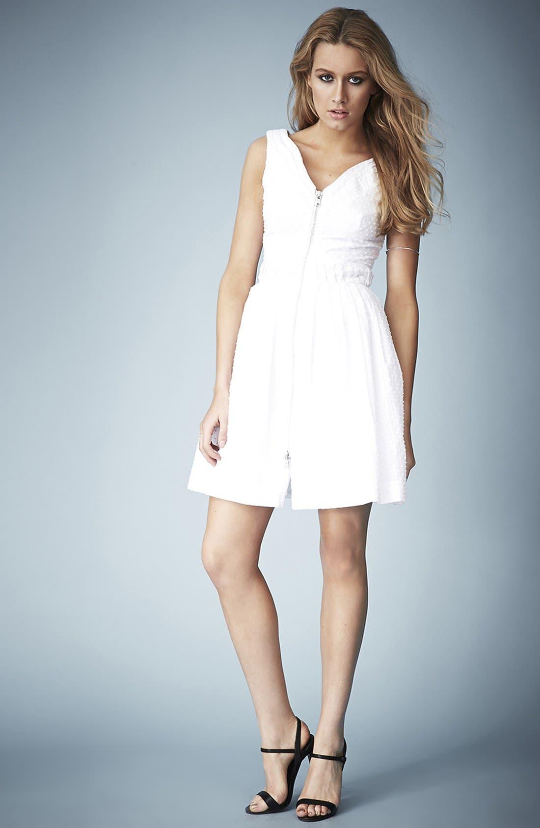 Alternate Image 5  - Kate Moss for Topshop Zip Front Cotton Dobby Sundress