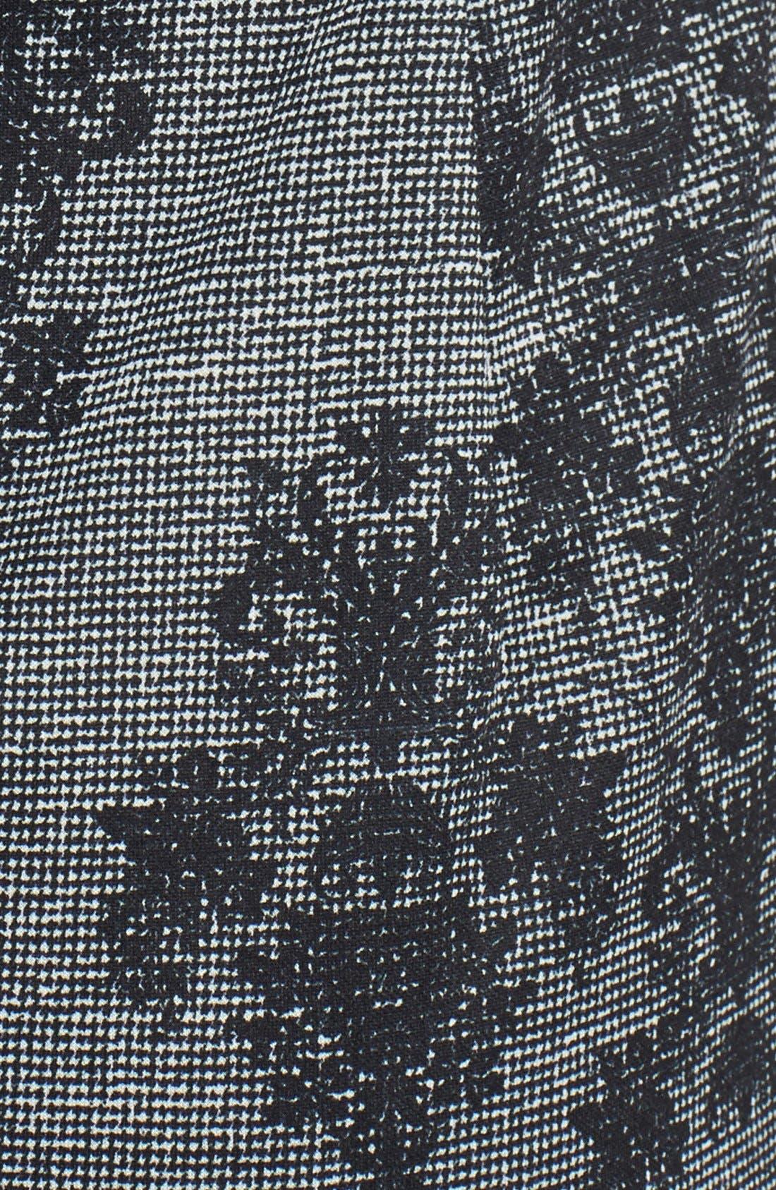 Alternate Image 4  - Adrianna Papell Placed & Print Lace Sheath Dress (Regular & Petite)