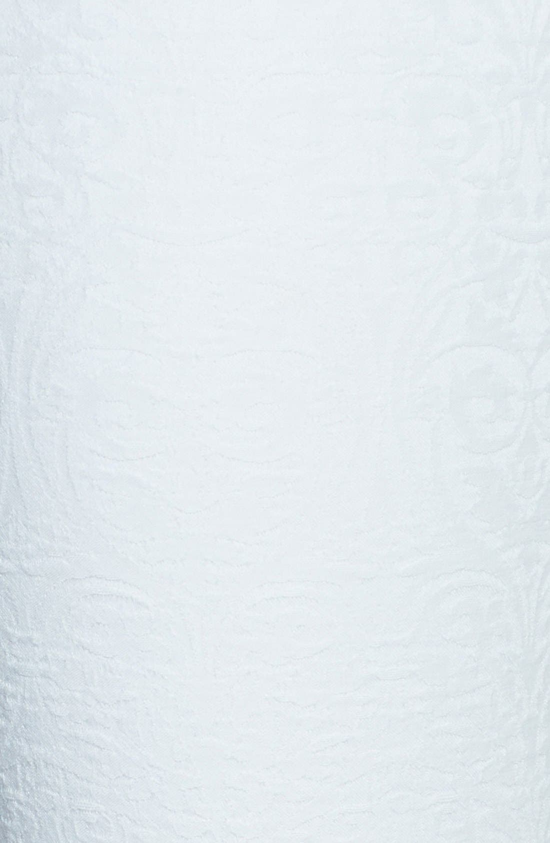 Alternate Image 3  - 7 For All Mankind® Textured Front Skinny Jeans (White Royal Jacquard)