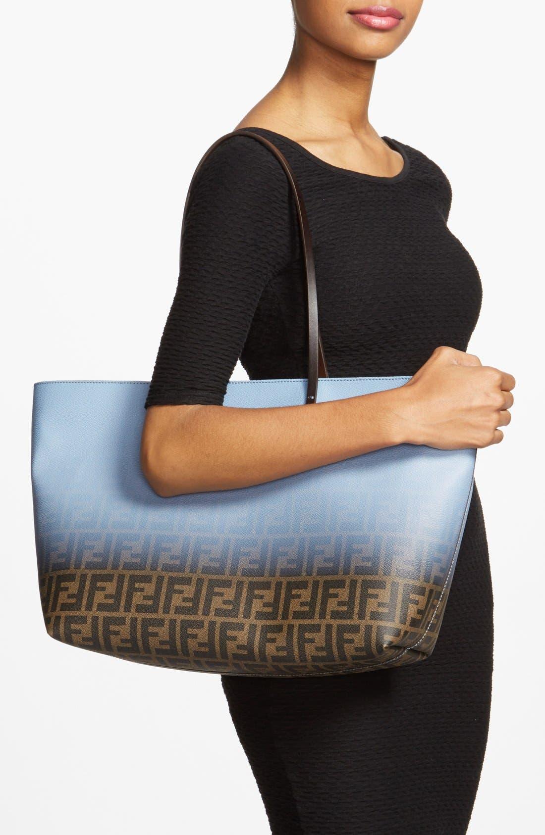 Alternate Image 2  - Fendi 'Ombré Zucca' Coated Fabric Tote