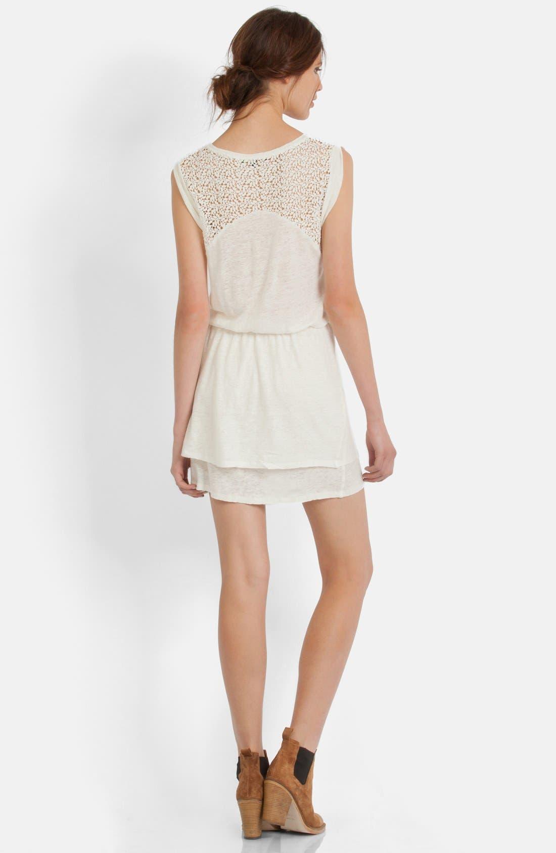 Alternate Image 2  - maje Lace Yoke Blouson Dress
