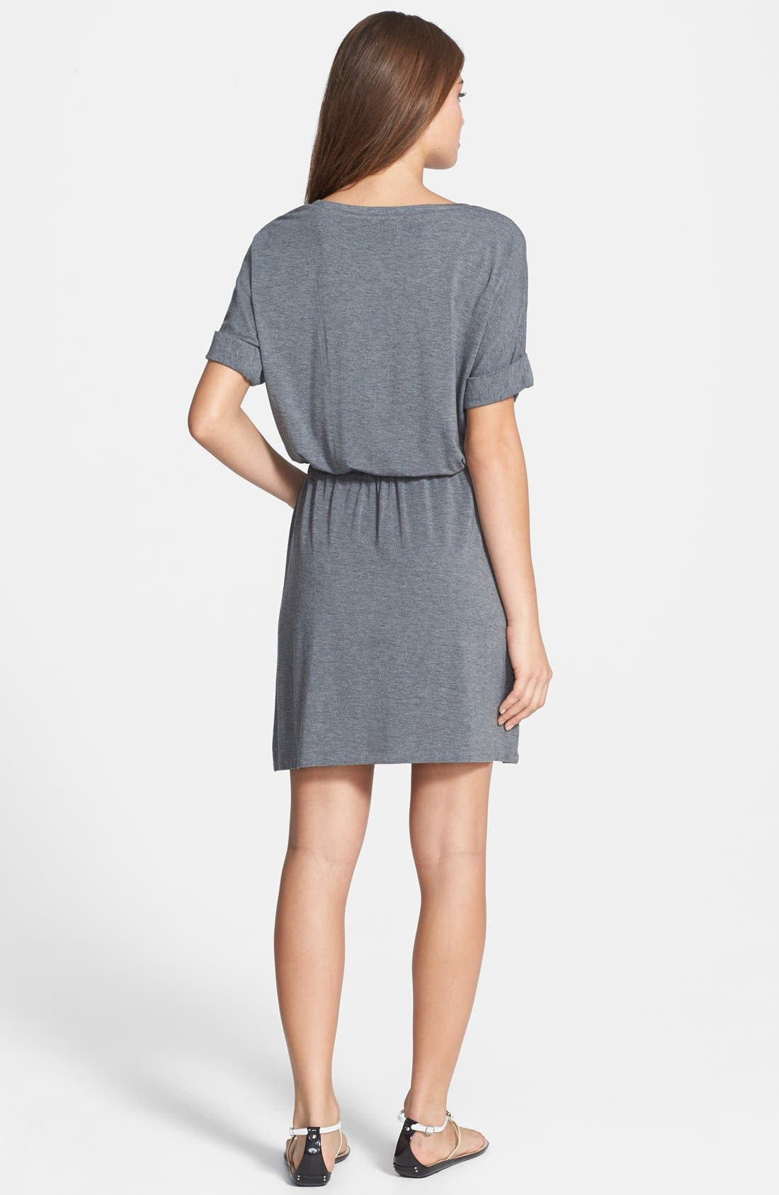 Alternate Image 2  - Caslon® Split Neck Dolman Sleeve Dress