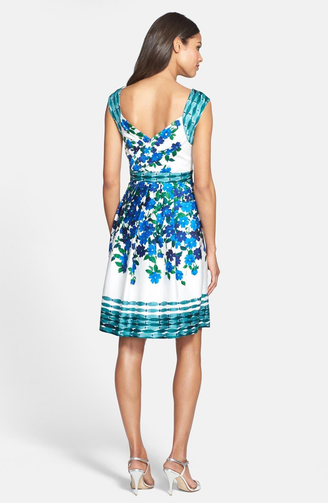 Alternate Image 2  - Adrianna Papell Print Fit & Flare Dress