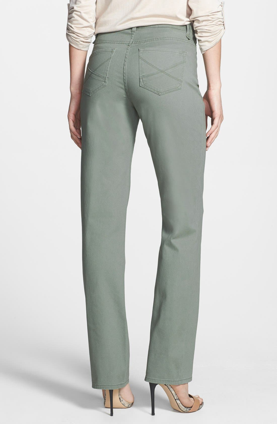 Alternate Image 2  - NYDJ 'Hayden' Stretch Twill Straight Leg Jeans (Regular & Petite)