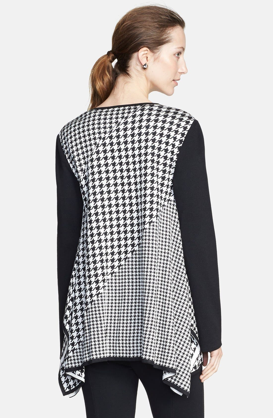 Alternate Image 2  - St. John Collection Multi Scale Houndstooth Jacquard Knit Cardigan