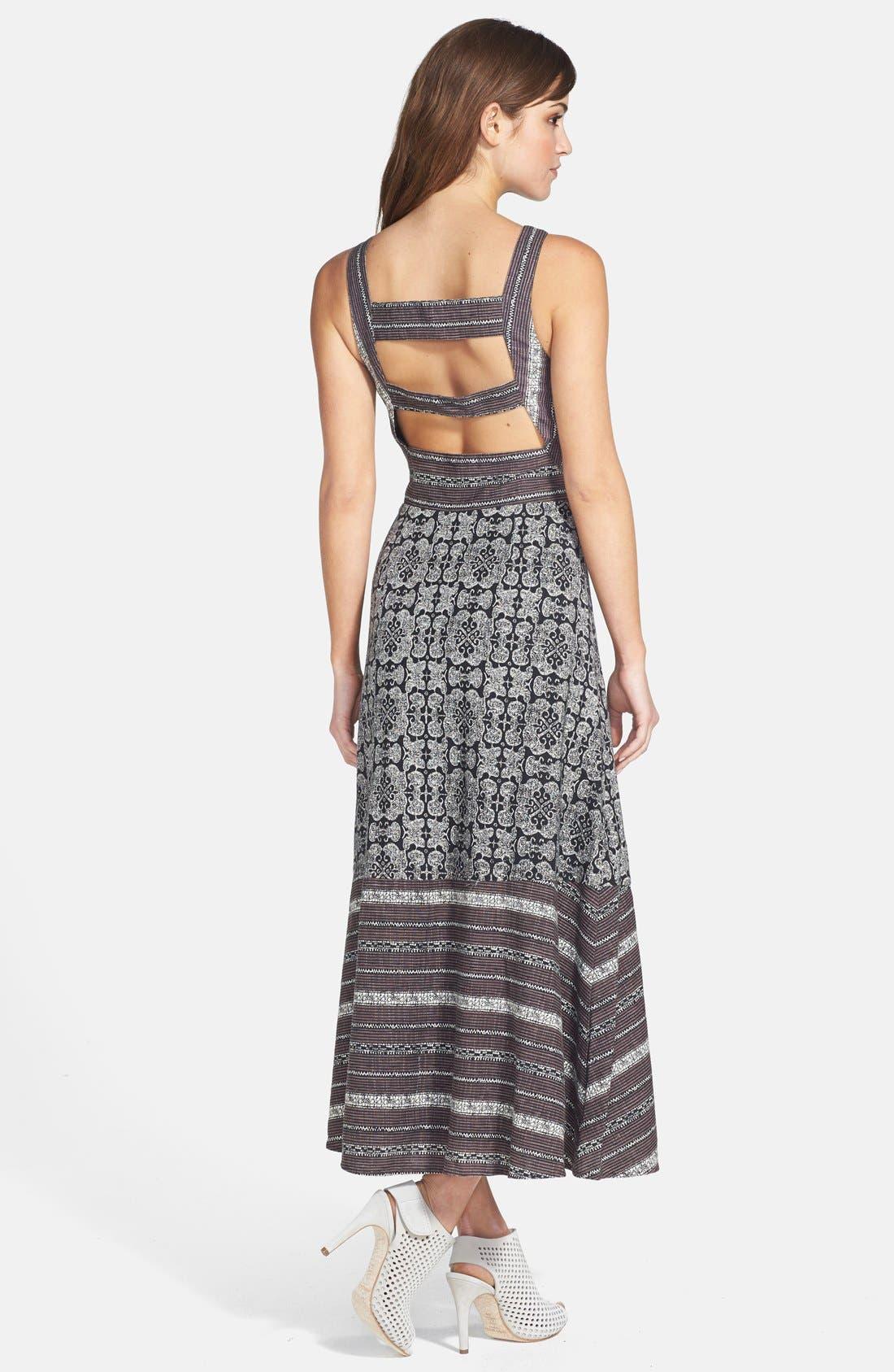 Alternate Image 2  - Free People 'Tribal Tale' Cutout Mixed Print Midi Dress