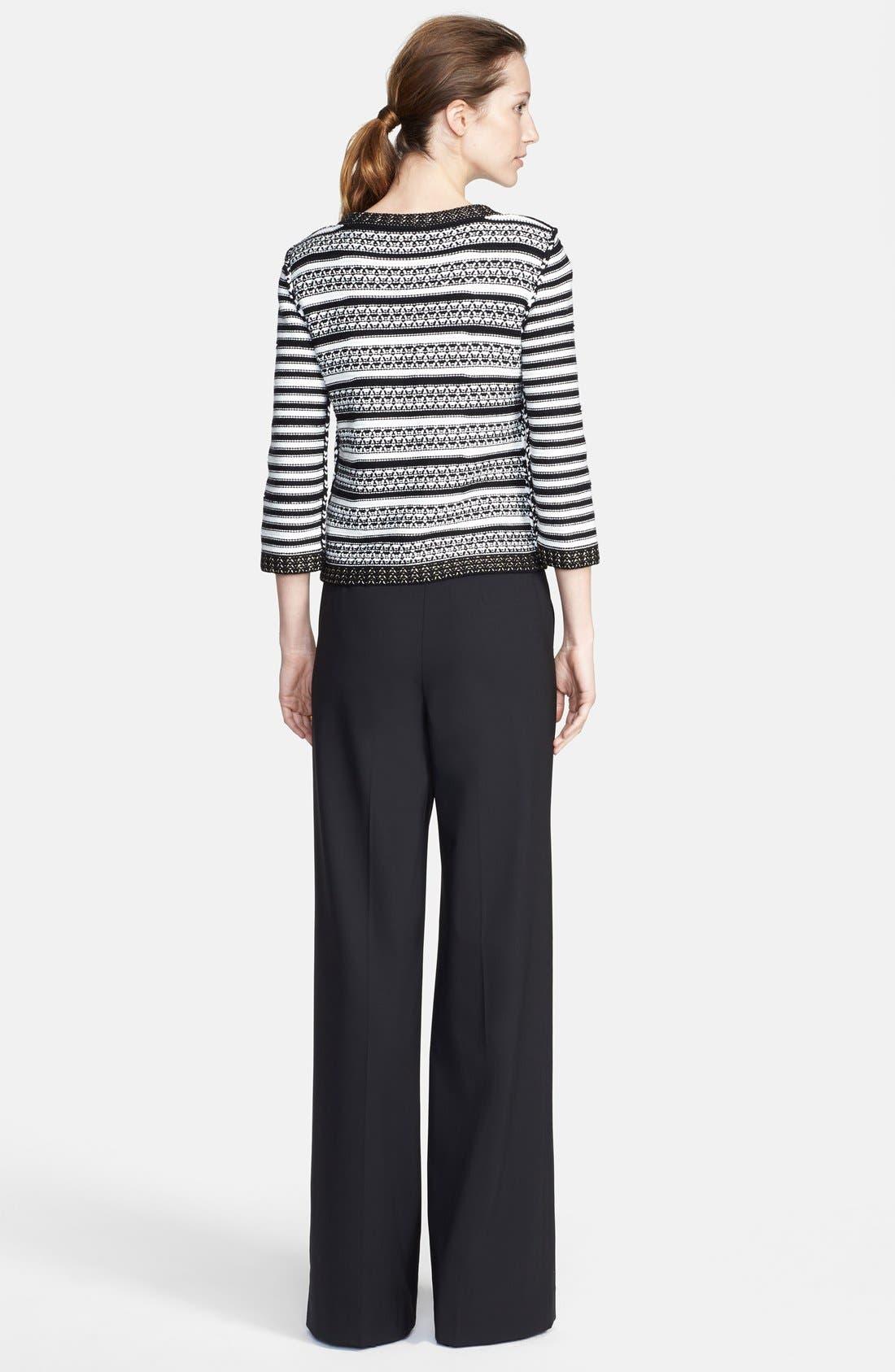 Alternate Image 5  - St. John Collection Stripe Knit Jacket