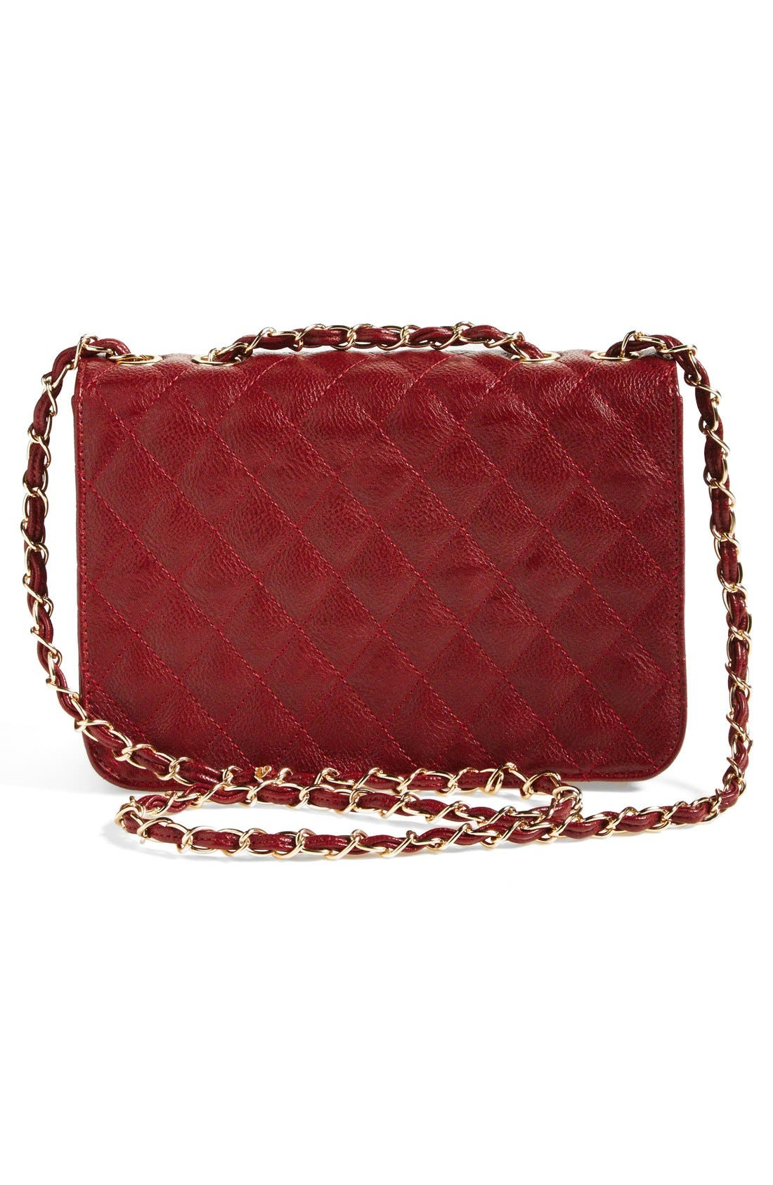 Alternate Image 4  - NB Handbags Quilted Convertible Crossbody Bag (Juniors) (Online Only)