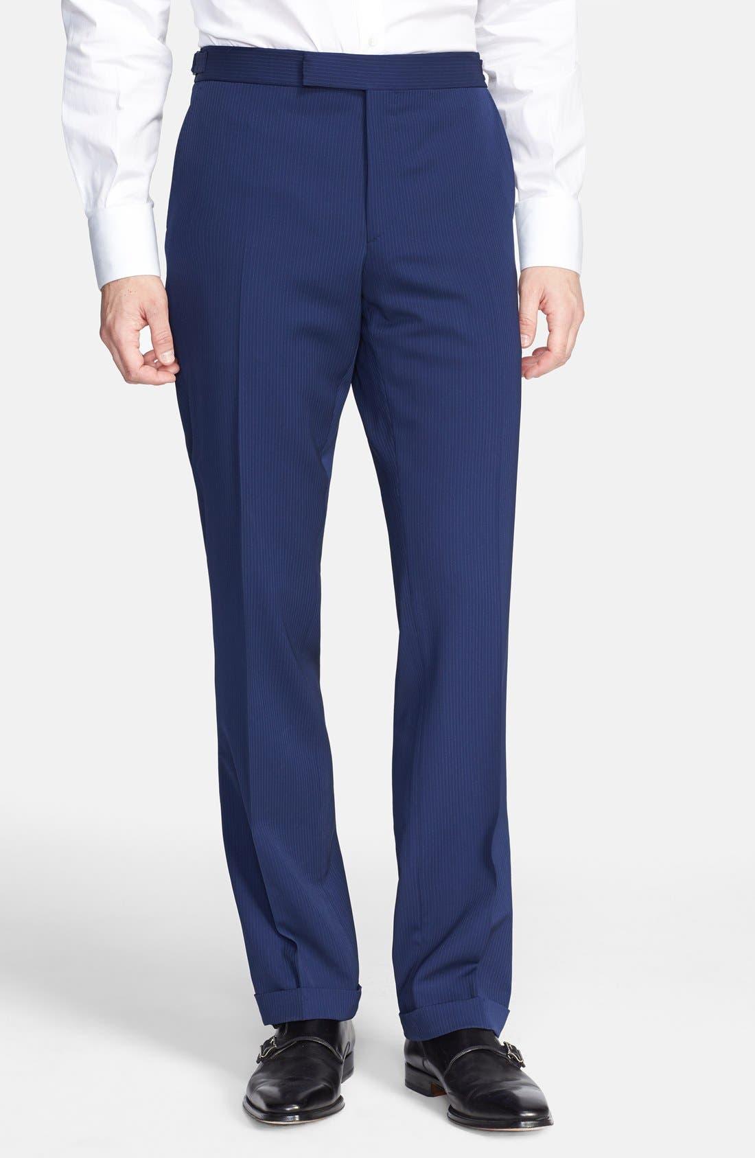 Alternate Image 4  - Ralph Lauren Black Label Twill Wool Suit