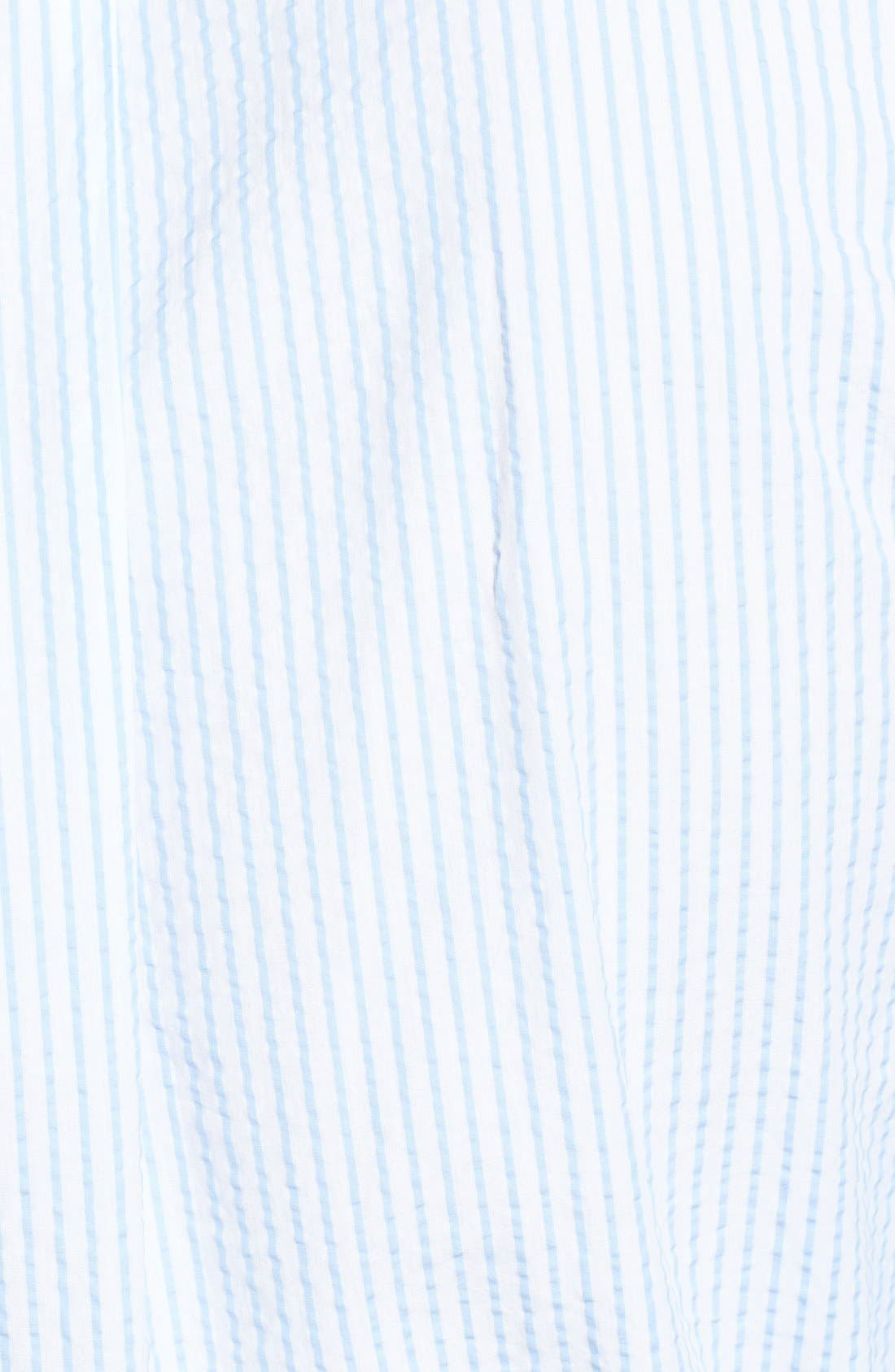 Alternate Image 3  - Façonnable Classique Fit Seersucker Sport Shirt (Tall)