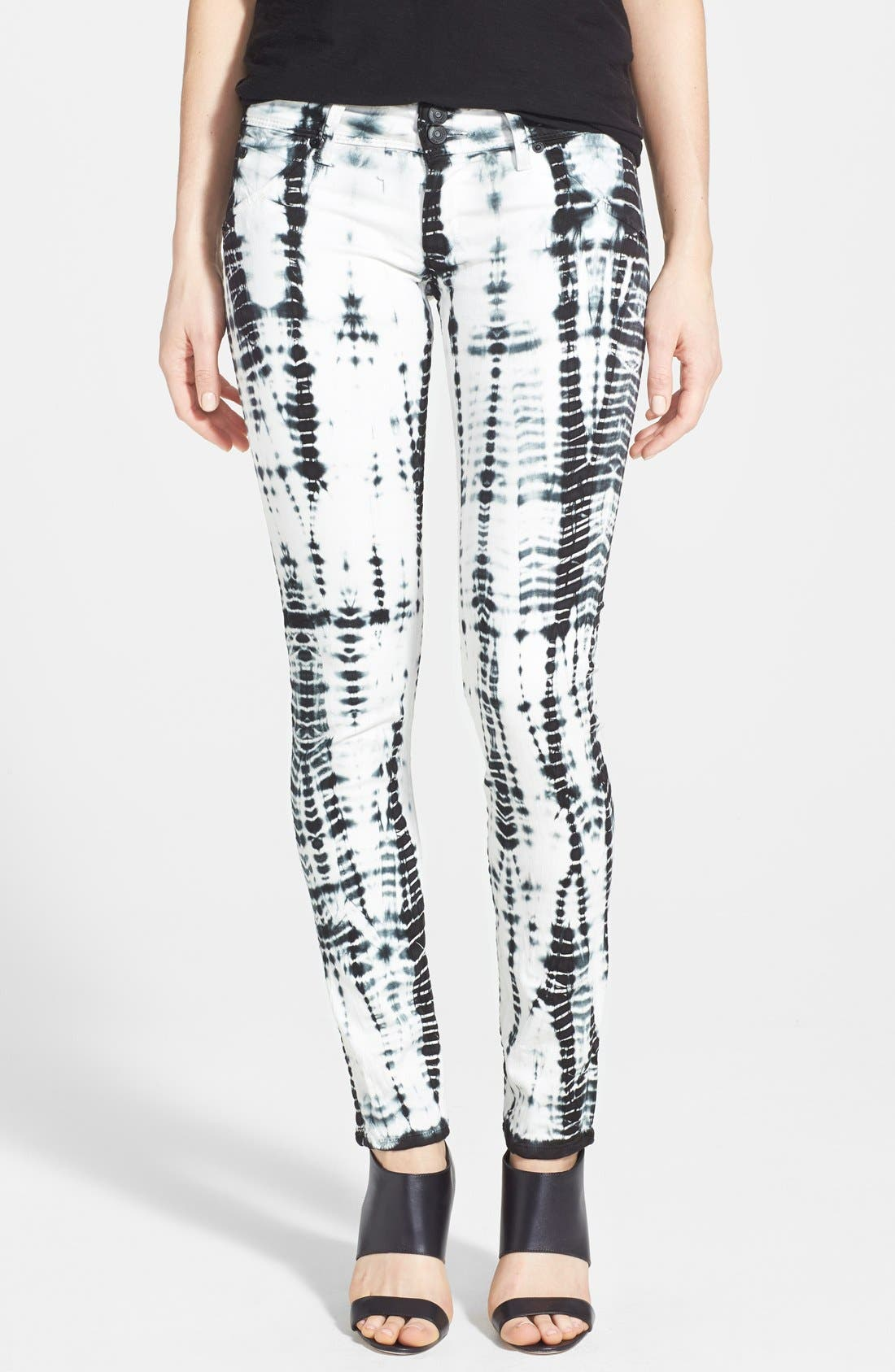 Main Image - Hudson Jeans Tie Dye Skinny Stretch Jeans (Illusions)