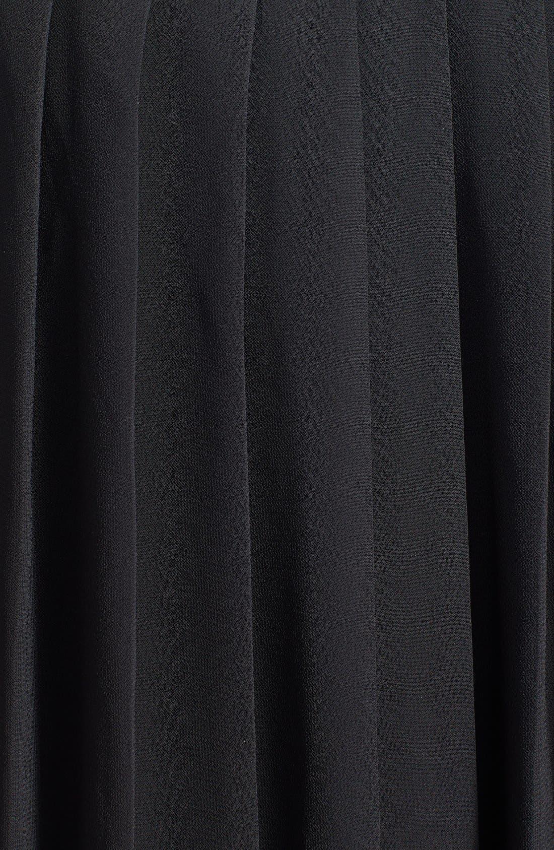 Alternate Image 3  - Halogen® Belted Pleat Dress (Plus Size) (Online Only)