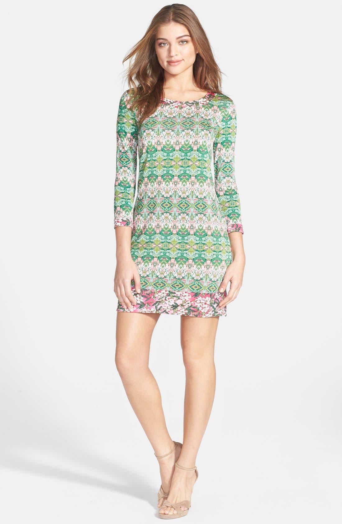 Alternate Image 3  - BCBGMAXAZRIA 'Ania' Print Jersey Shift Dress