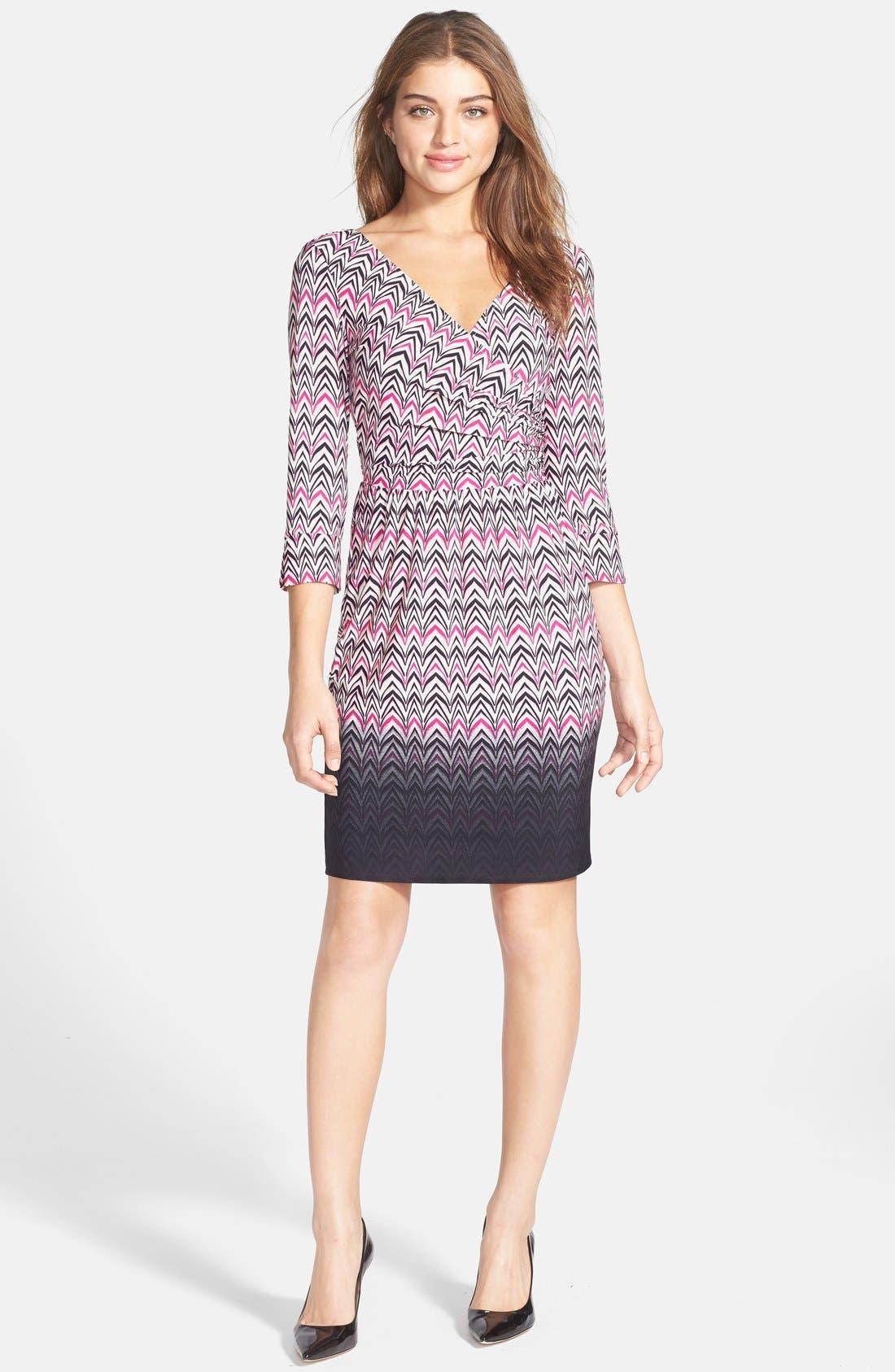 Alternate Image 3  - Maggy London Print Jersey Faux Wrap Dress