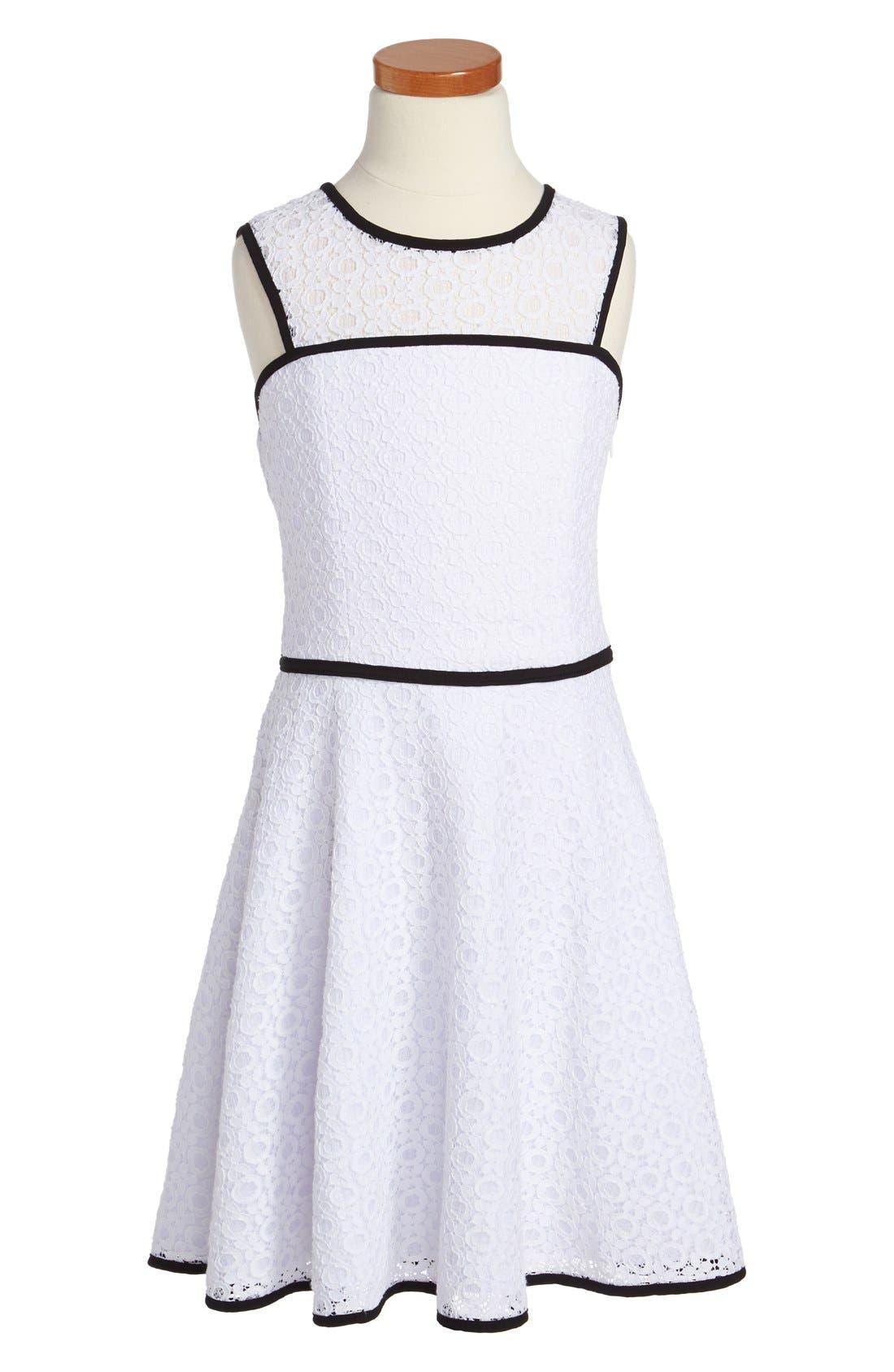 Main Image - Sally Miller 'XO' Lace Dress (Big Girls)