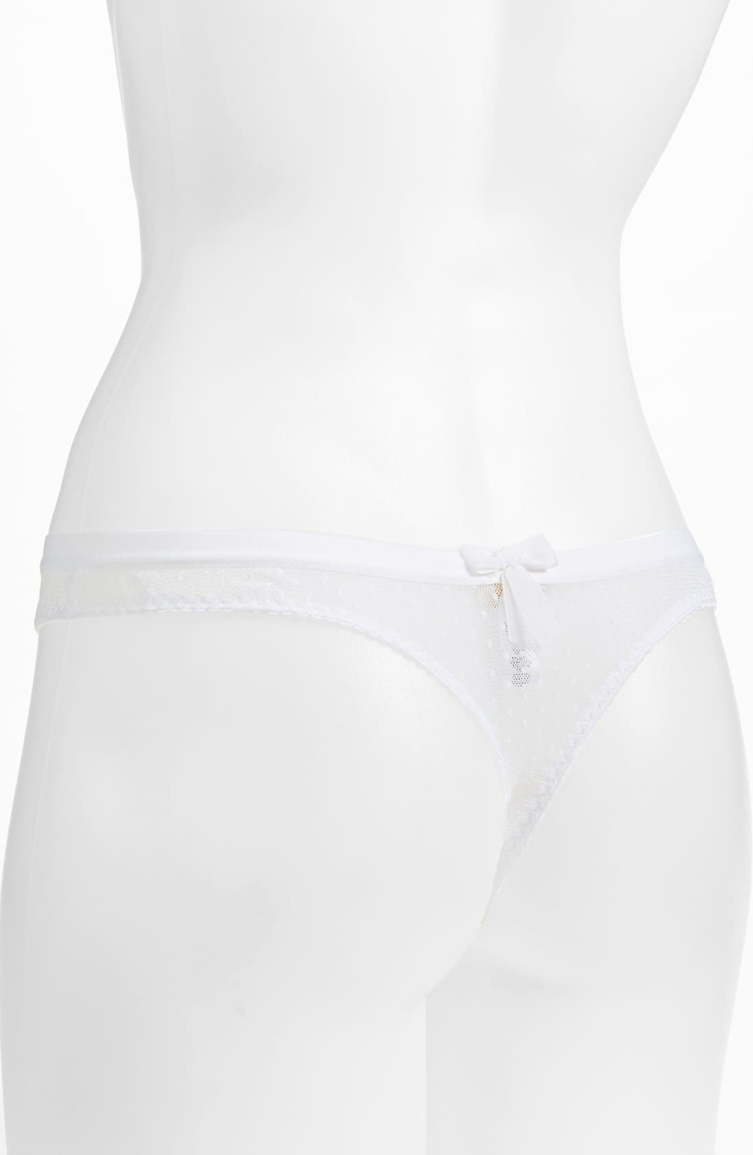 Alternate Image 2  - Cosabella x Erin Fetherston 'Erin Bridal' Swiss Dot Low Rise Thong