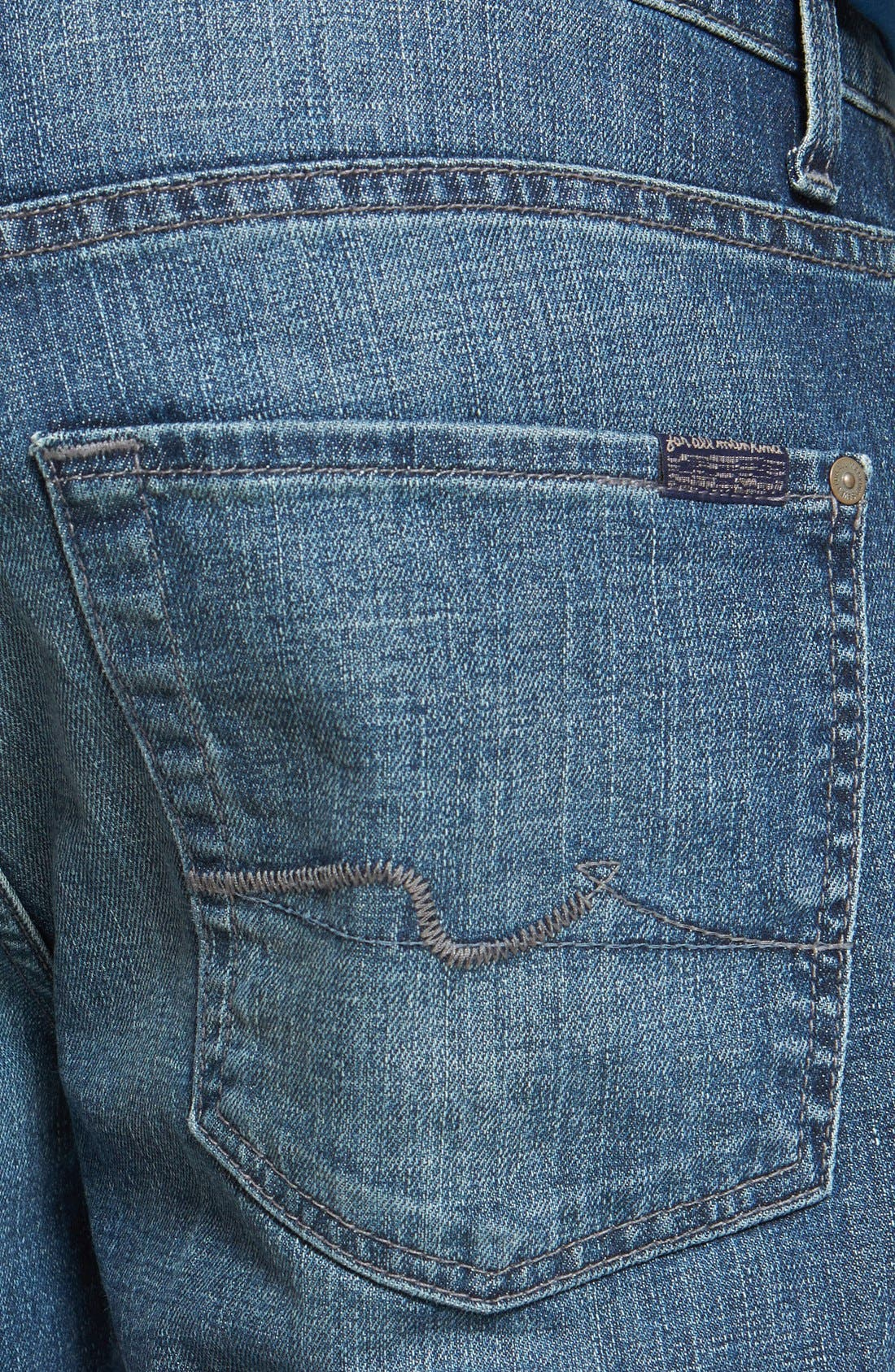Alternate Image 4  - 7 For All Mankind® 'The Straight' Modern Straight Leg Jeans (Blueridge)