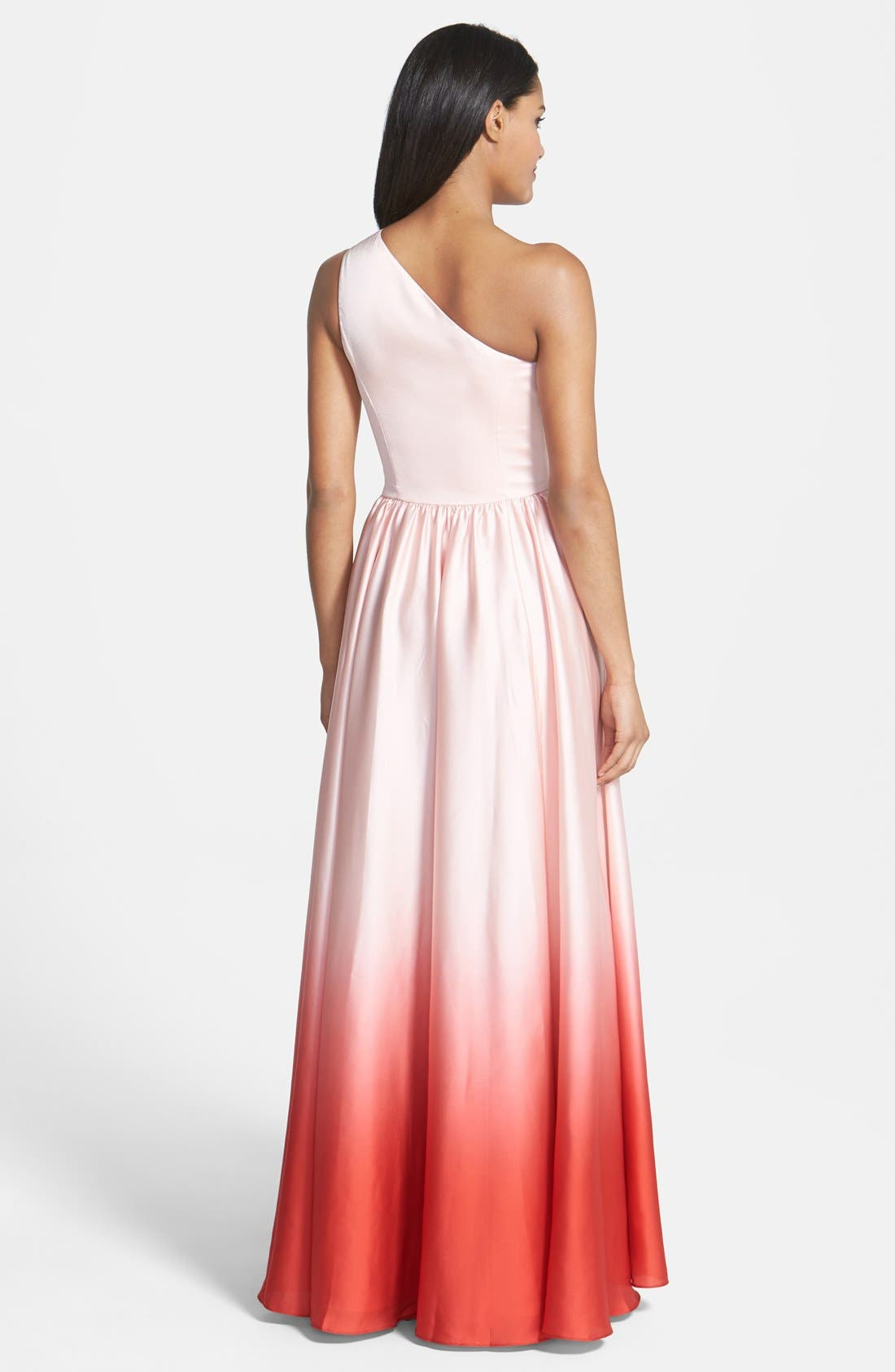 Alternate Image 2  - Ted Baker London Single Shoulder Ombré Maxi Dress