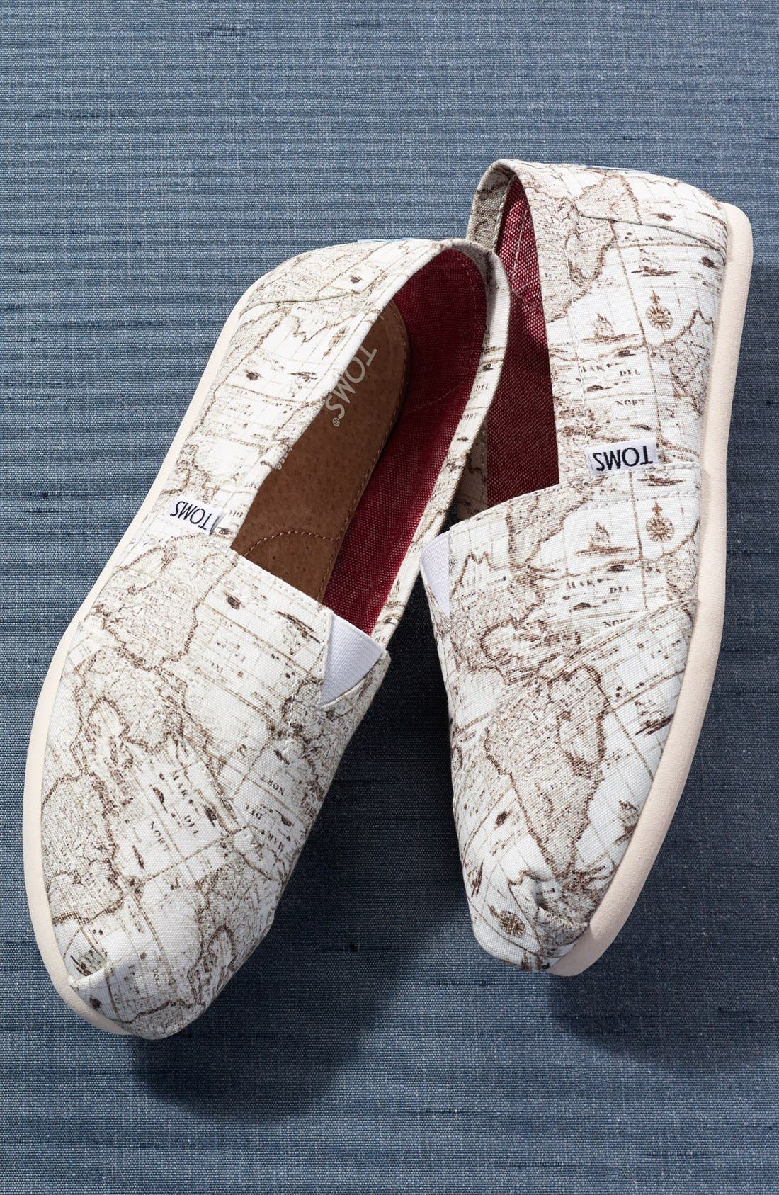 Alternate Image 6  - TOMS 'Classic - Voyage Map' Slip-On (Women)