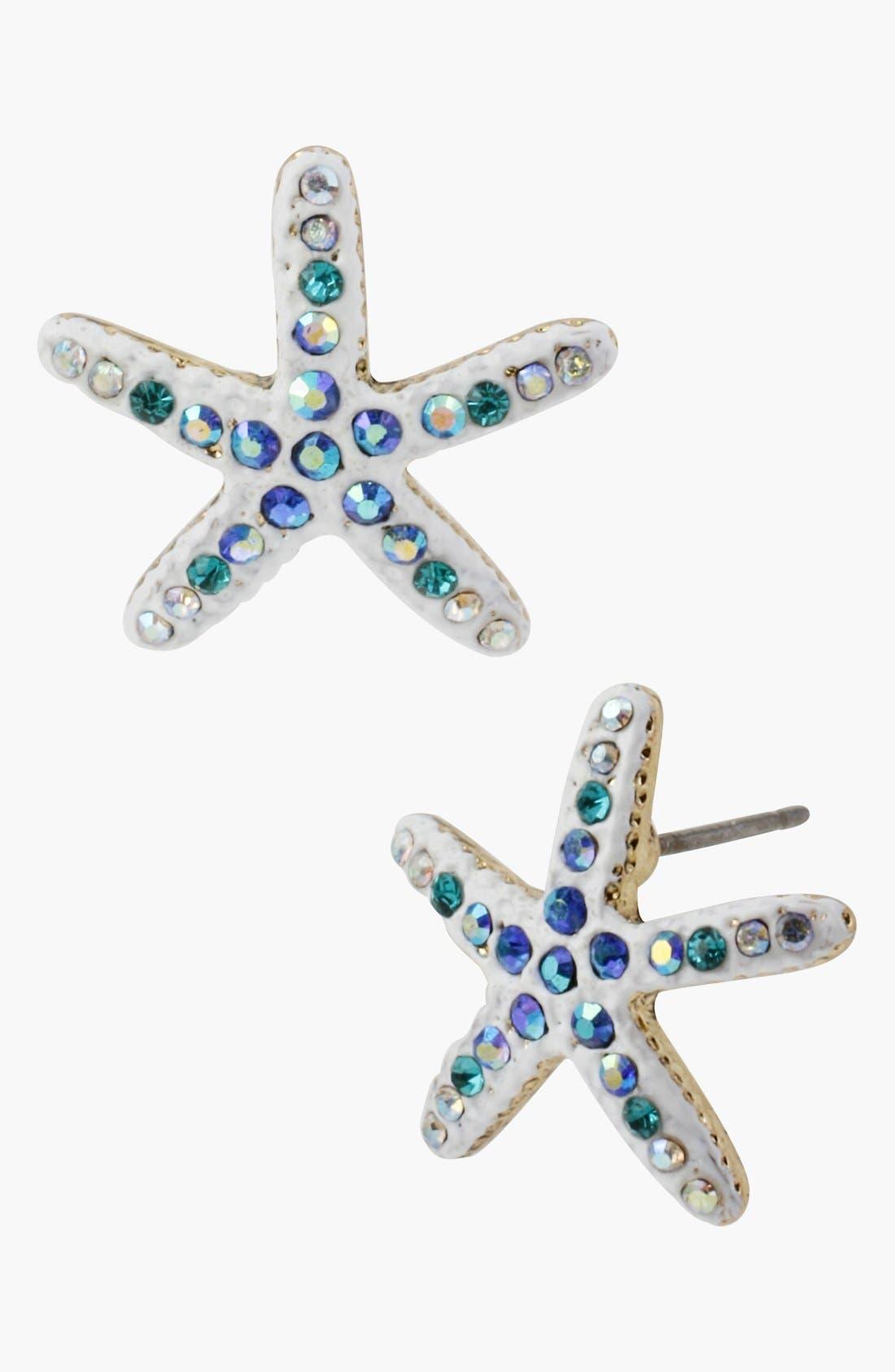 Alternate Image 1 Selected - Betsey Johnson 'Shell Shocked' Starfish Stud Earrings