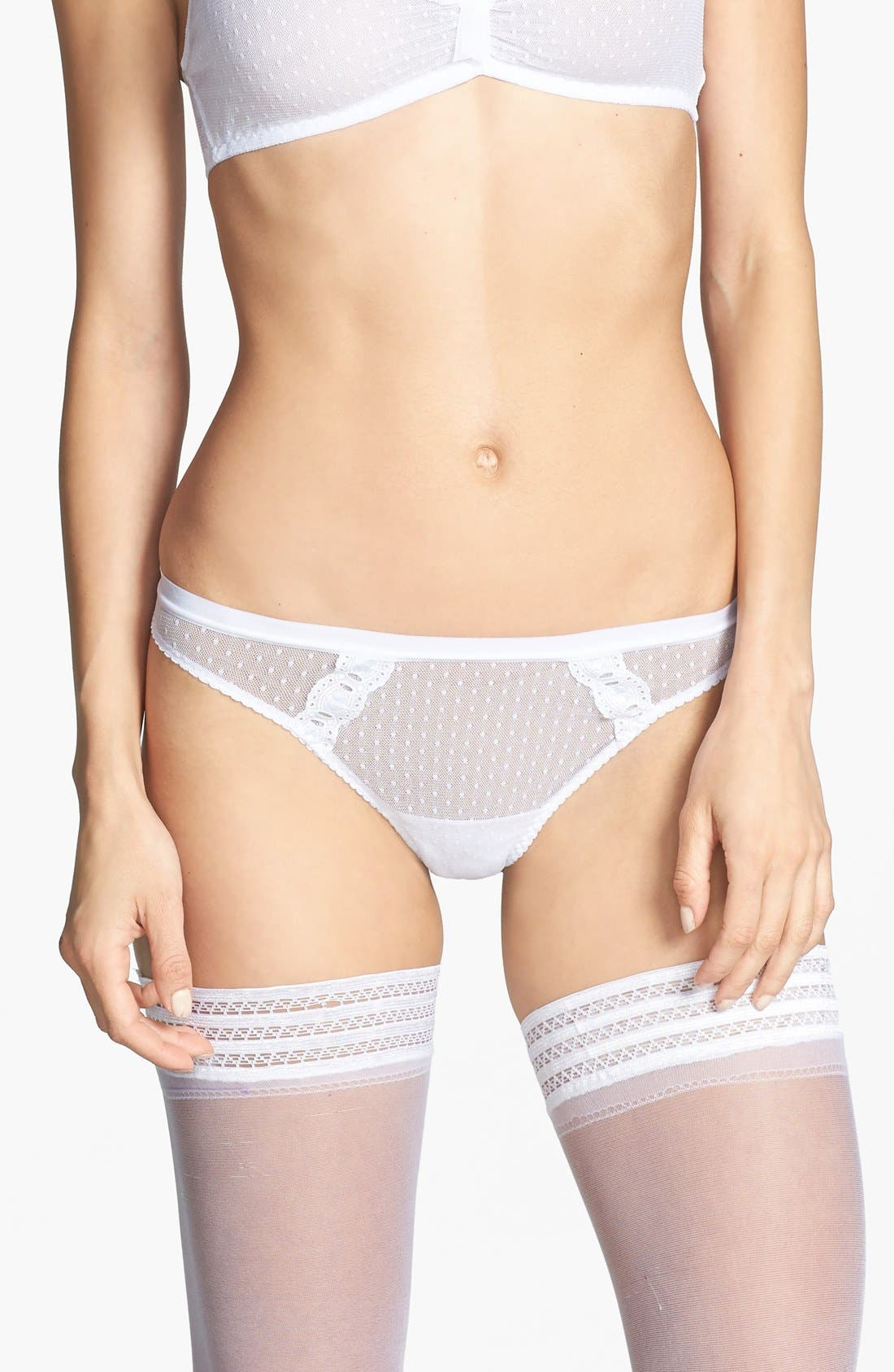 Alternate Image 1 Selected - Cosabella x Erin Fetherston 'Erin Bridal' Swiss Dot Low Rise Thong