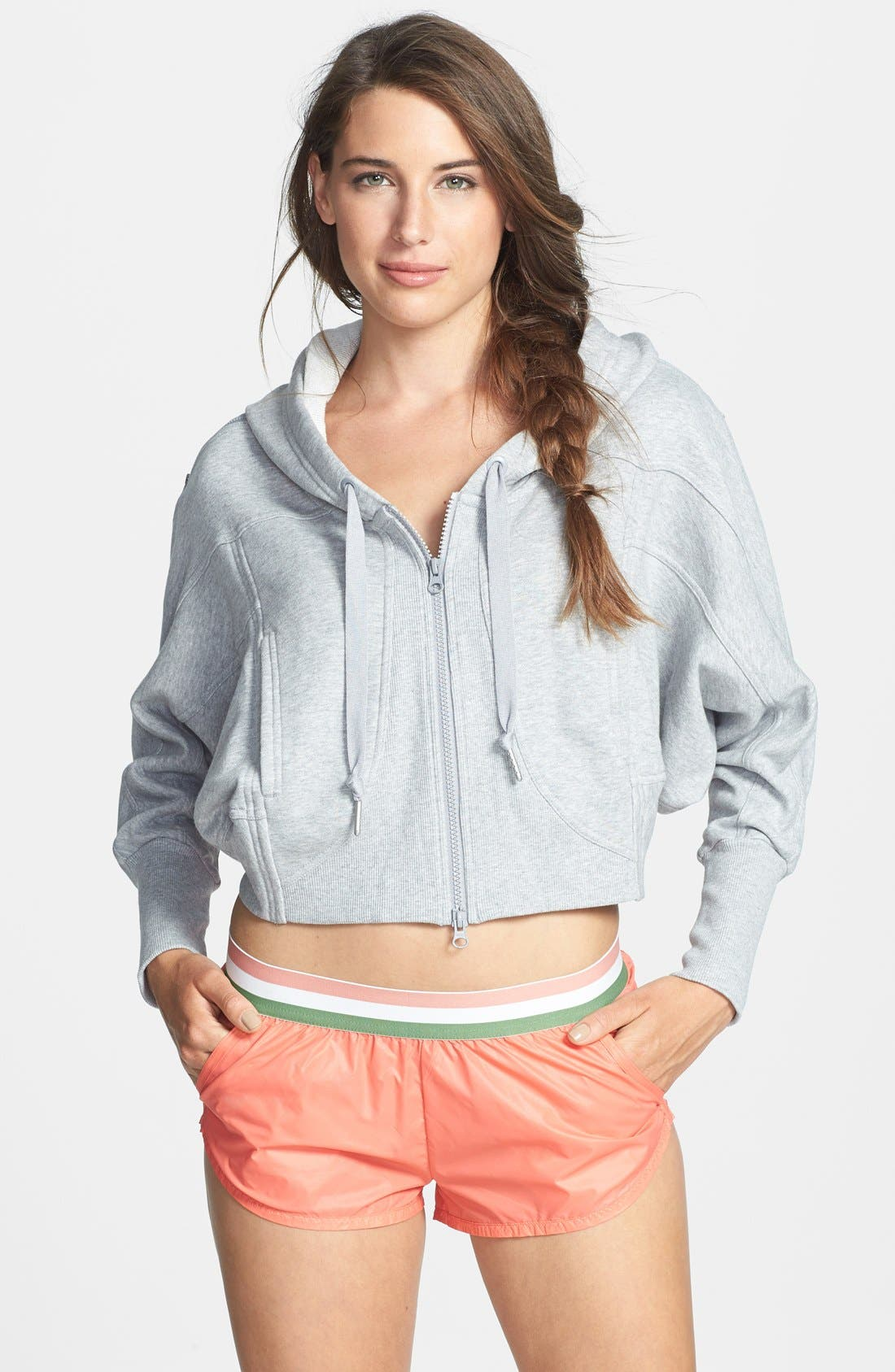 Alternate Image 1 Selected - adidas by Stella McCartney 'Studio' French Terry Crop Hoodie