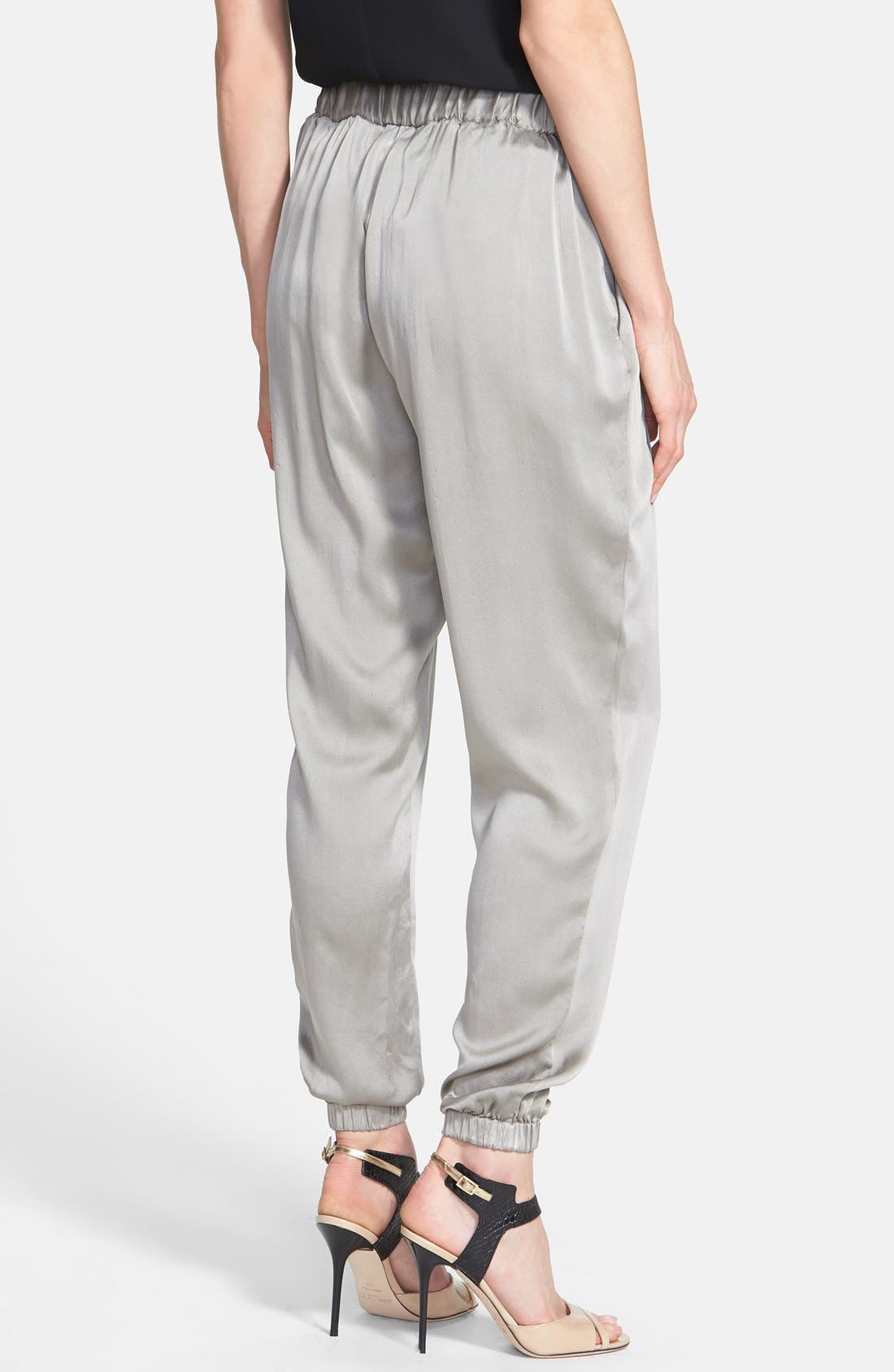 Alternate Image 2  - Eileen Fisher Silk Charmeuse Drawstring Ankle Pants