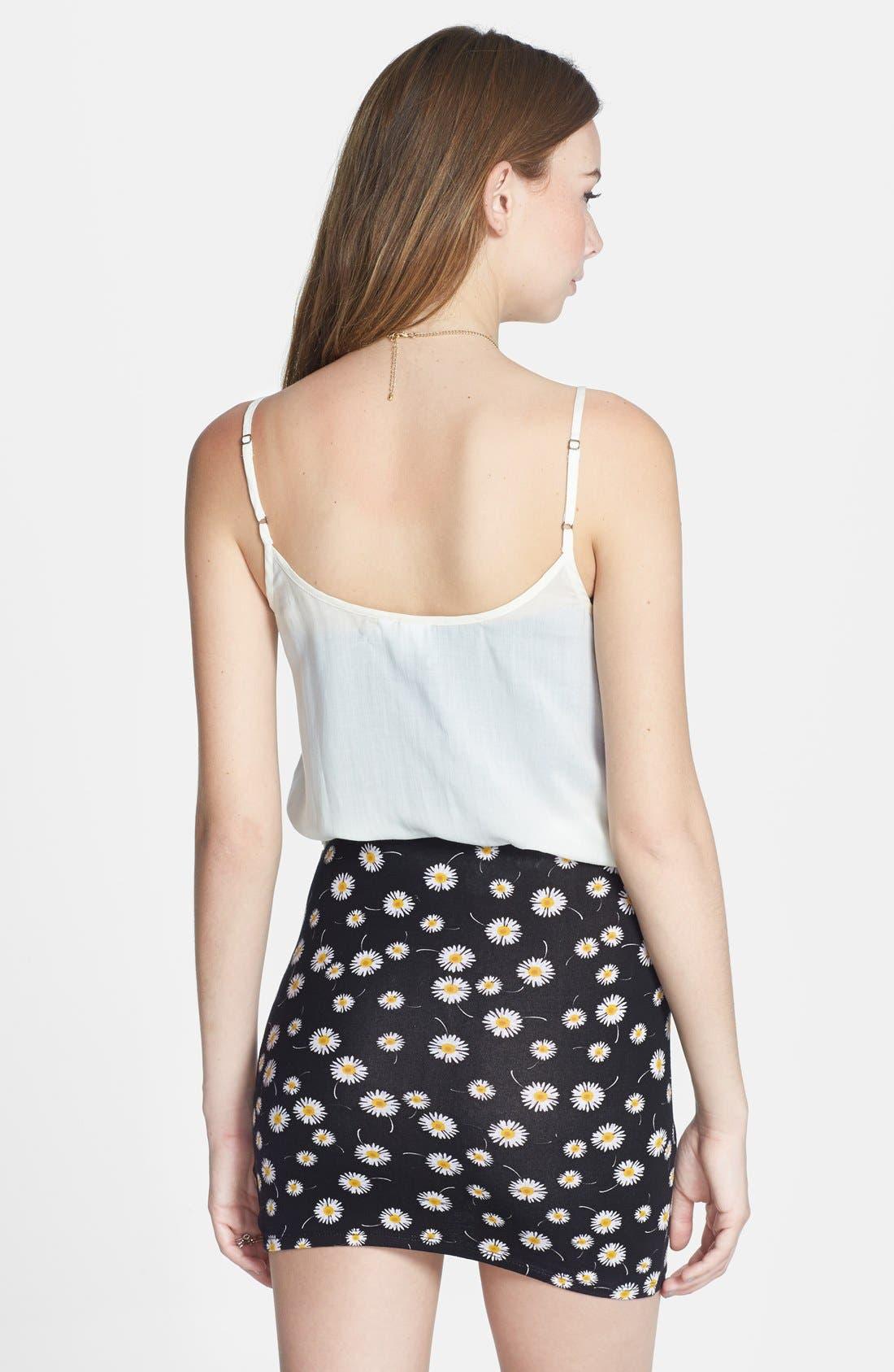 Alternate Image 2  - Lush Print Stretch Knit Wrap Miniskirt (Juniors)